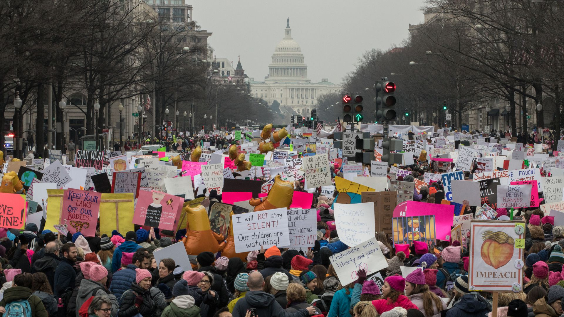 Women's March on Washington expects historically low turnout