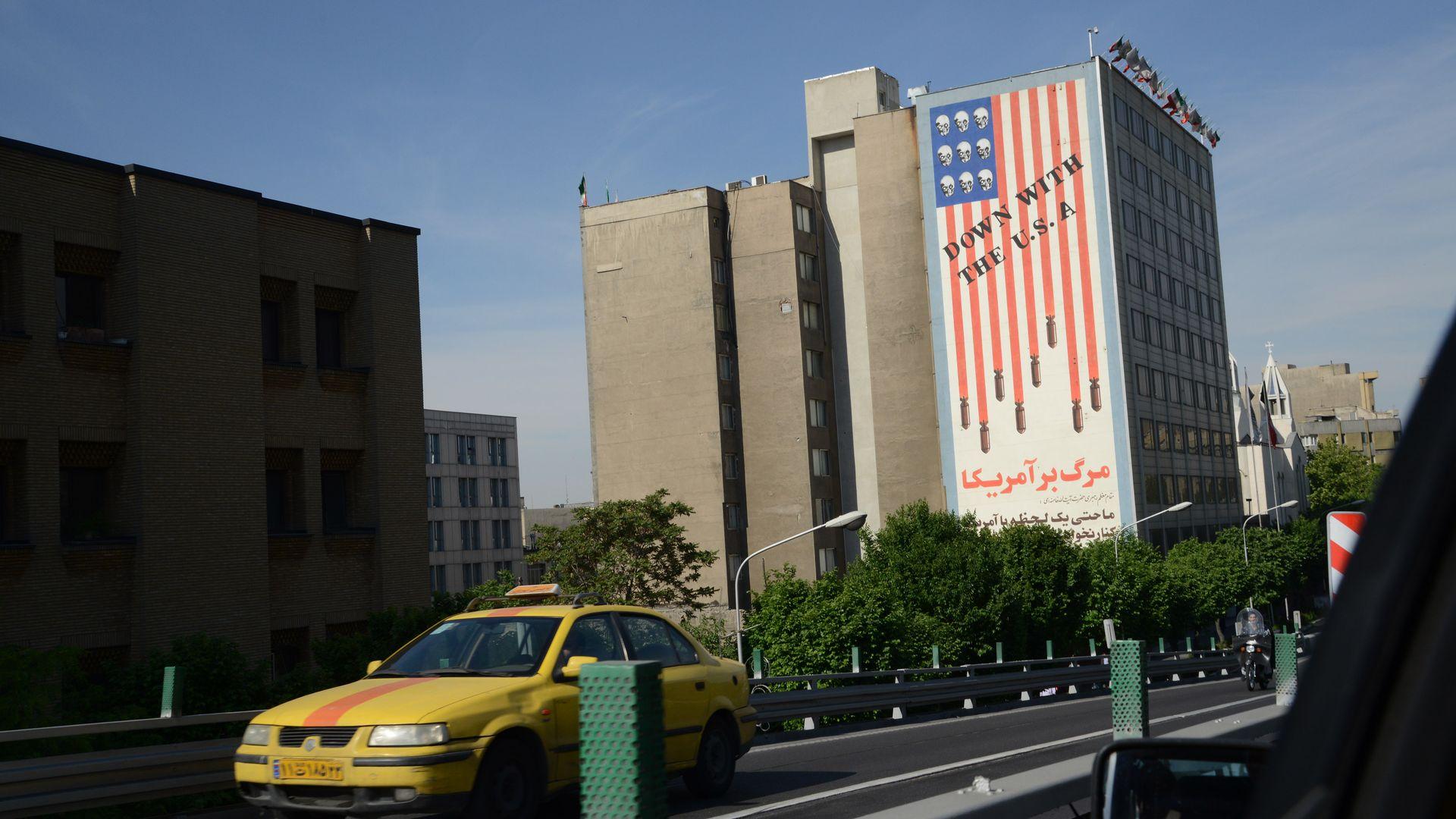 Anti-U.S. mural in Terhan.
