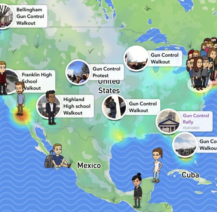 A view of Snap Maps