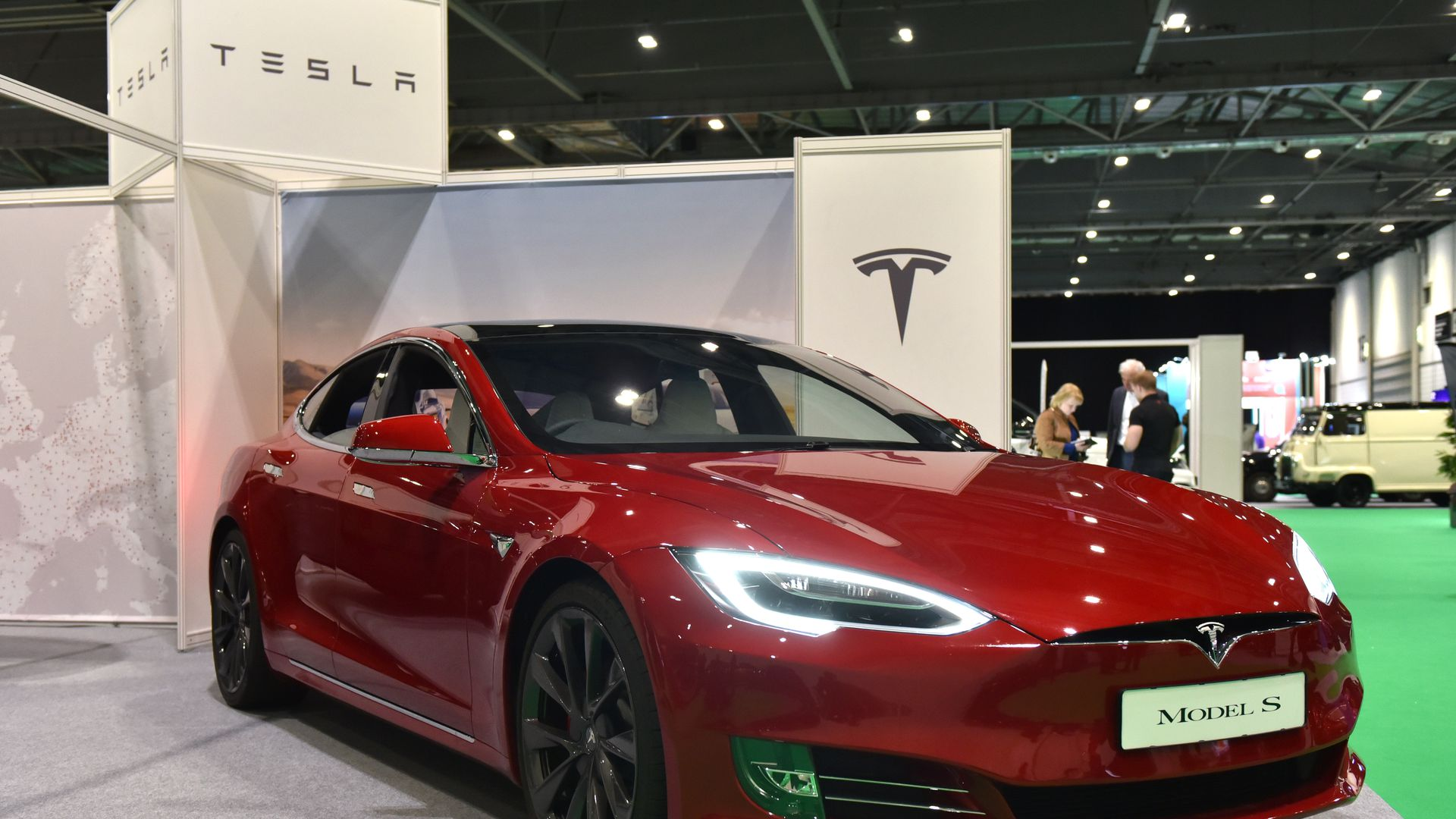 Photo of Tesla Model S on display