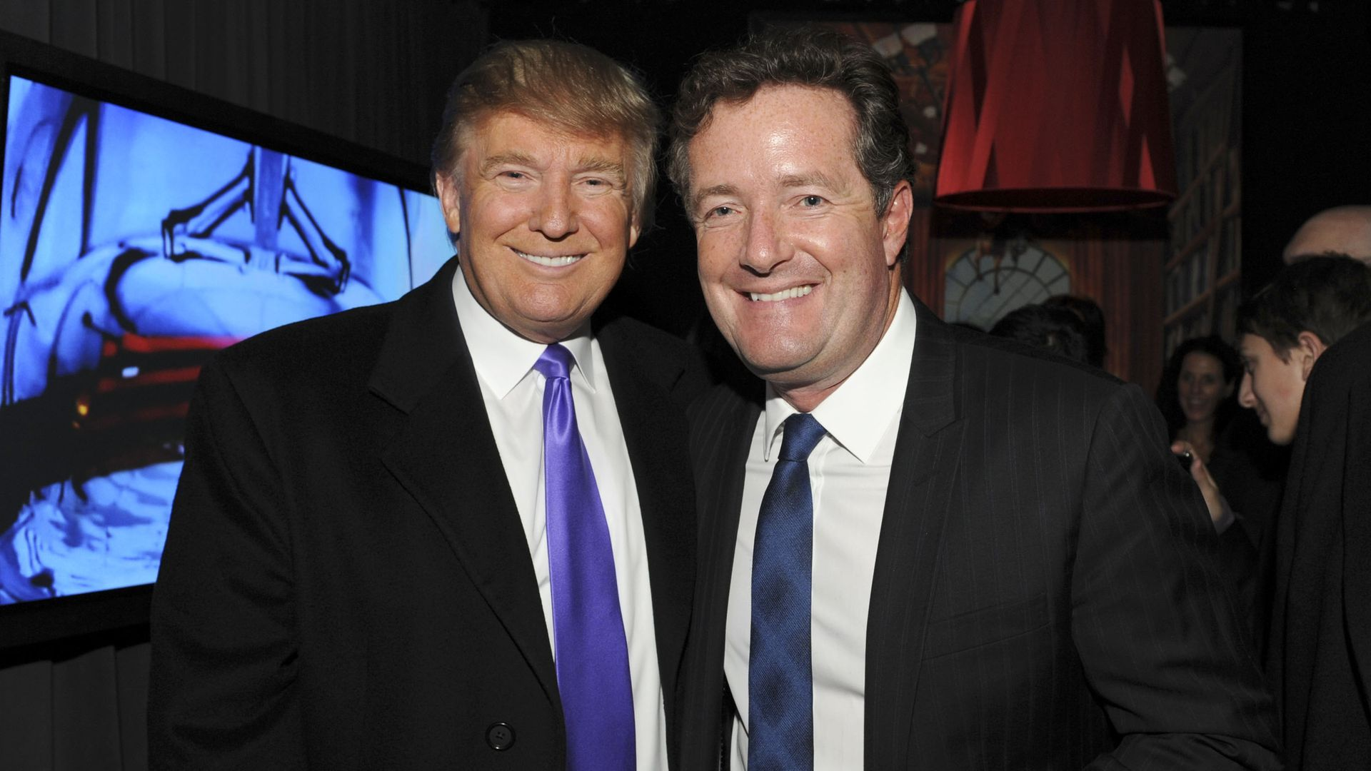 President  Trump and journalist Piers Morgan on November 10, 2010 in New York, New York.