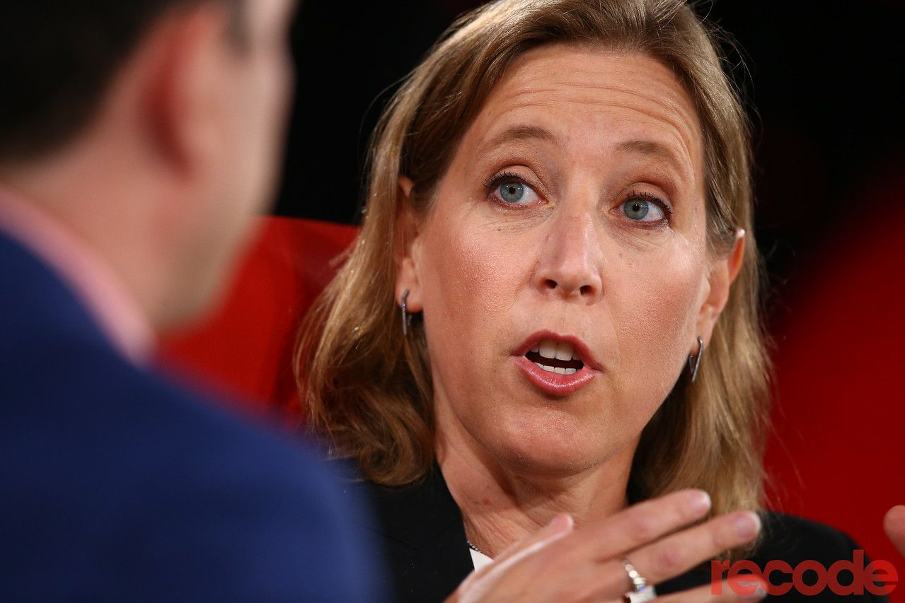 YouTube CEO Susan Wojcicki, speaking at Code Conference 2019