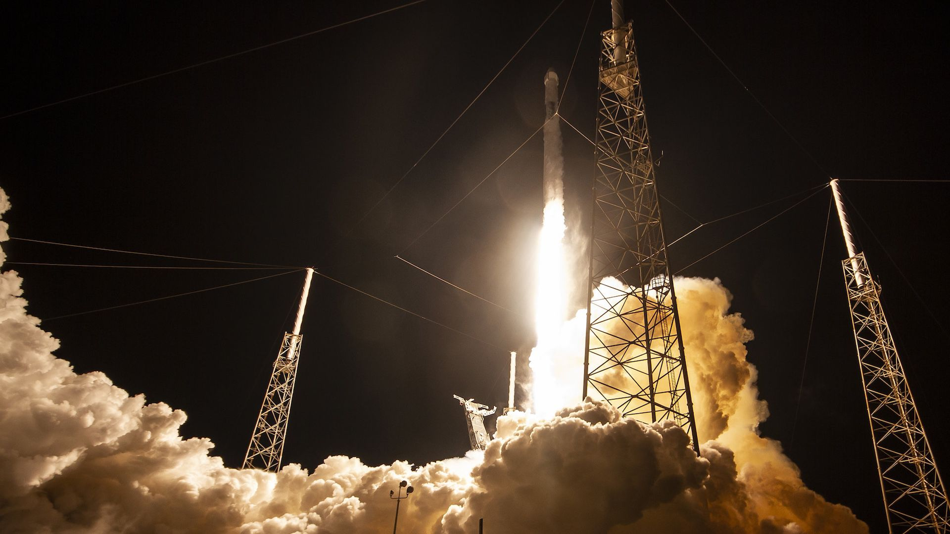 A SpaceX Falcon 9 rocket launch