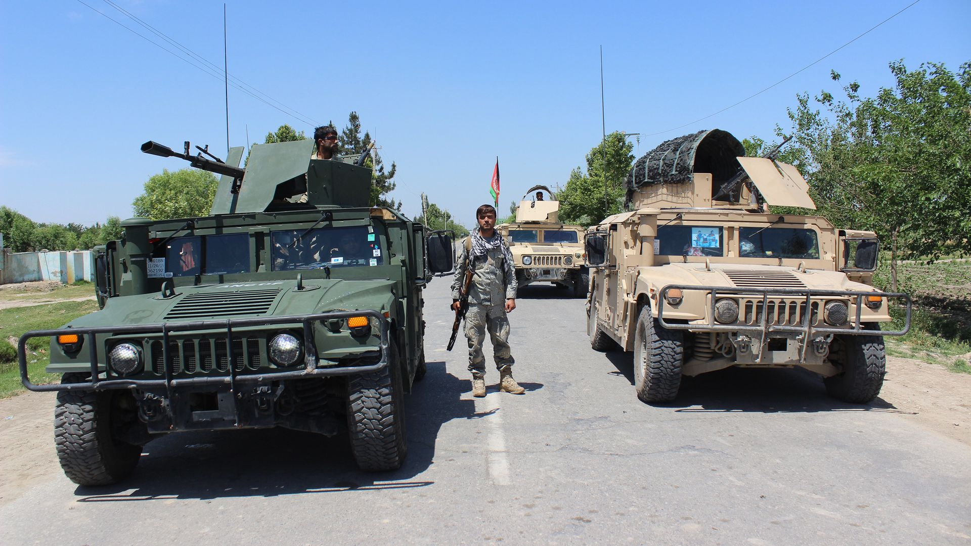 U.S. and Afghanistan troops in the city of Kunduz