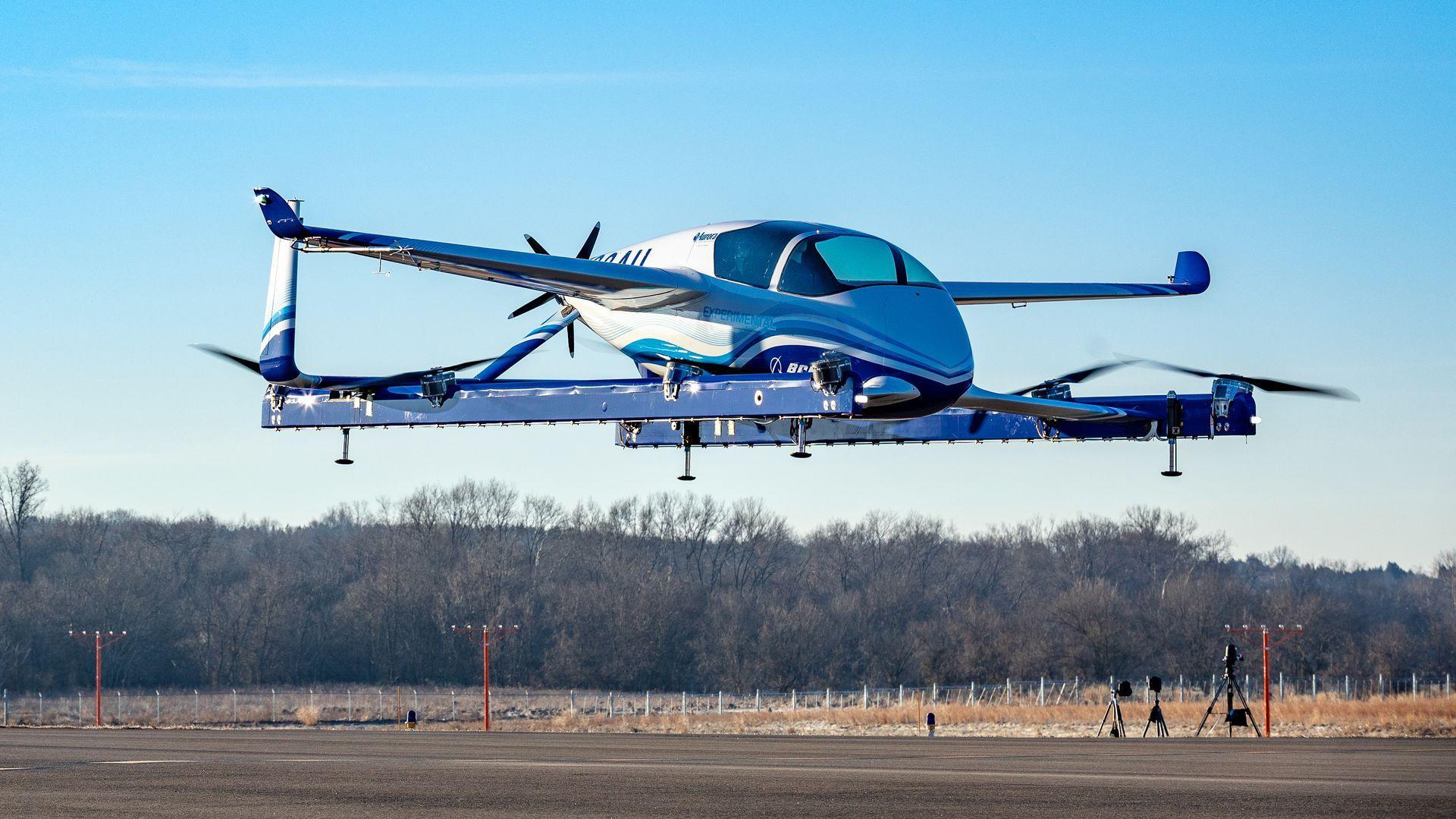 Photo of Boeing's autonomous passenger air vehicle concept
