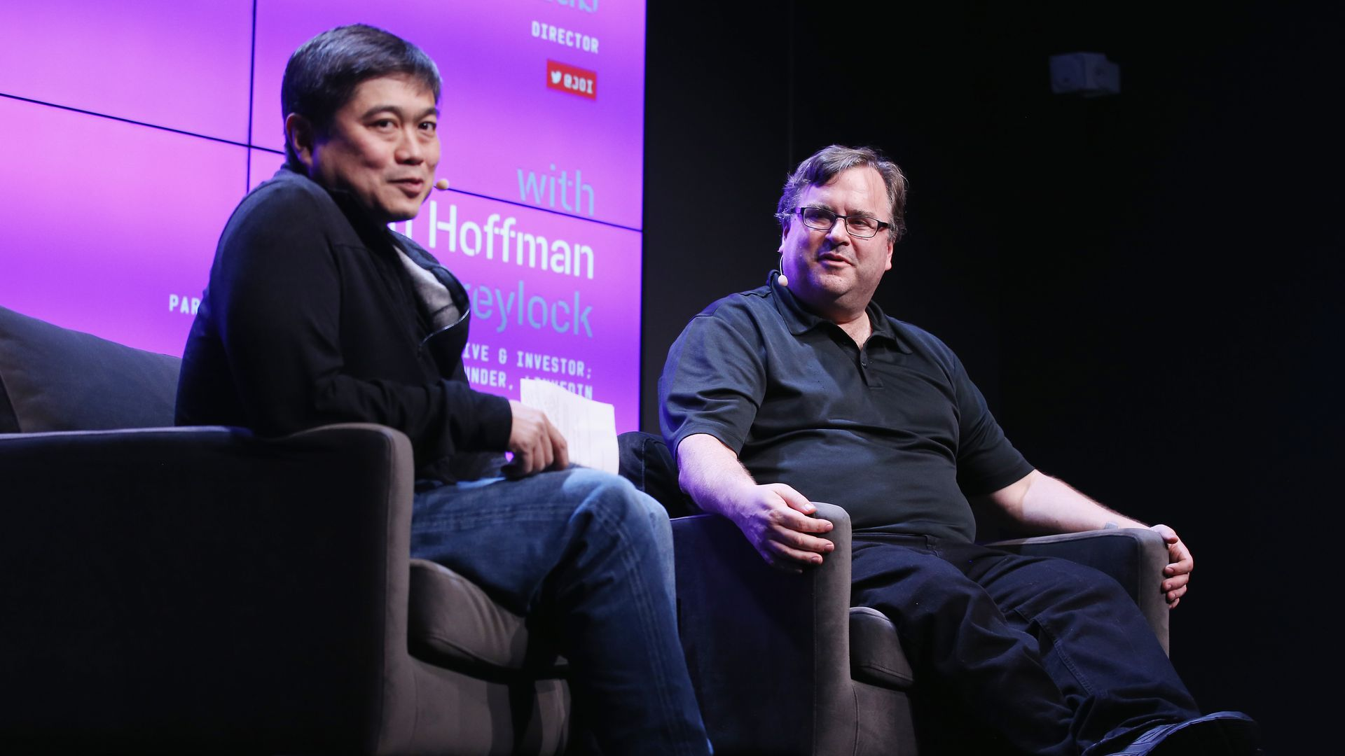 Joi Ito and Reid Hoffman