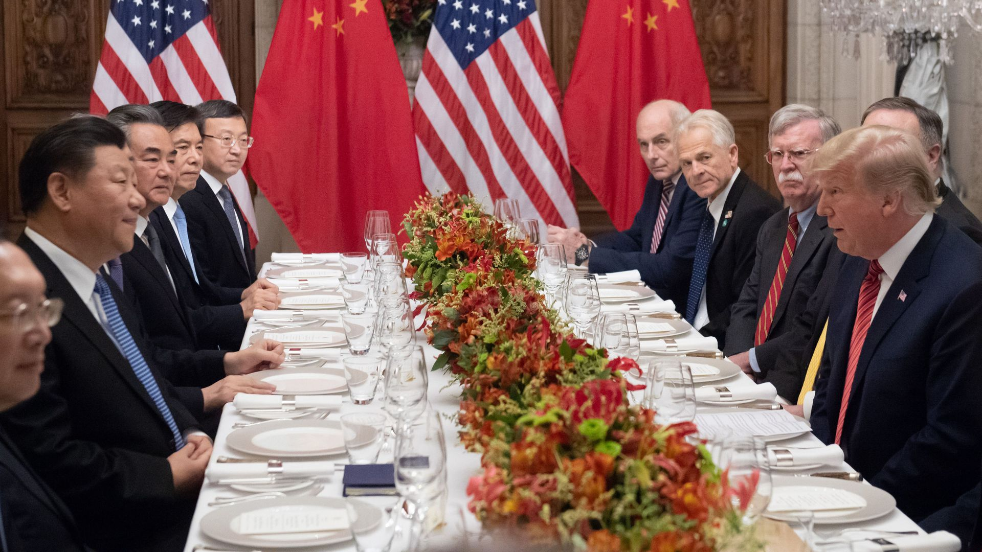 President Donald Trump and Chinese President Xi Jinping hold a dinner meeting at the end of the G20.