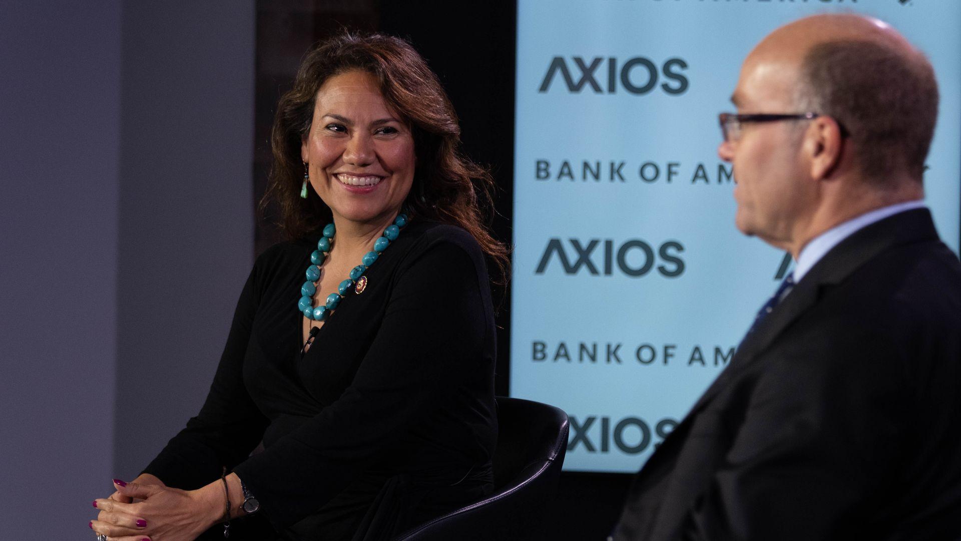 Rep. Veronica Escobar in conversation with Axios' Mike Allen.