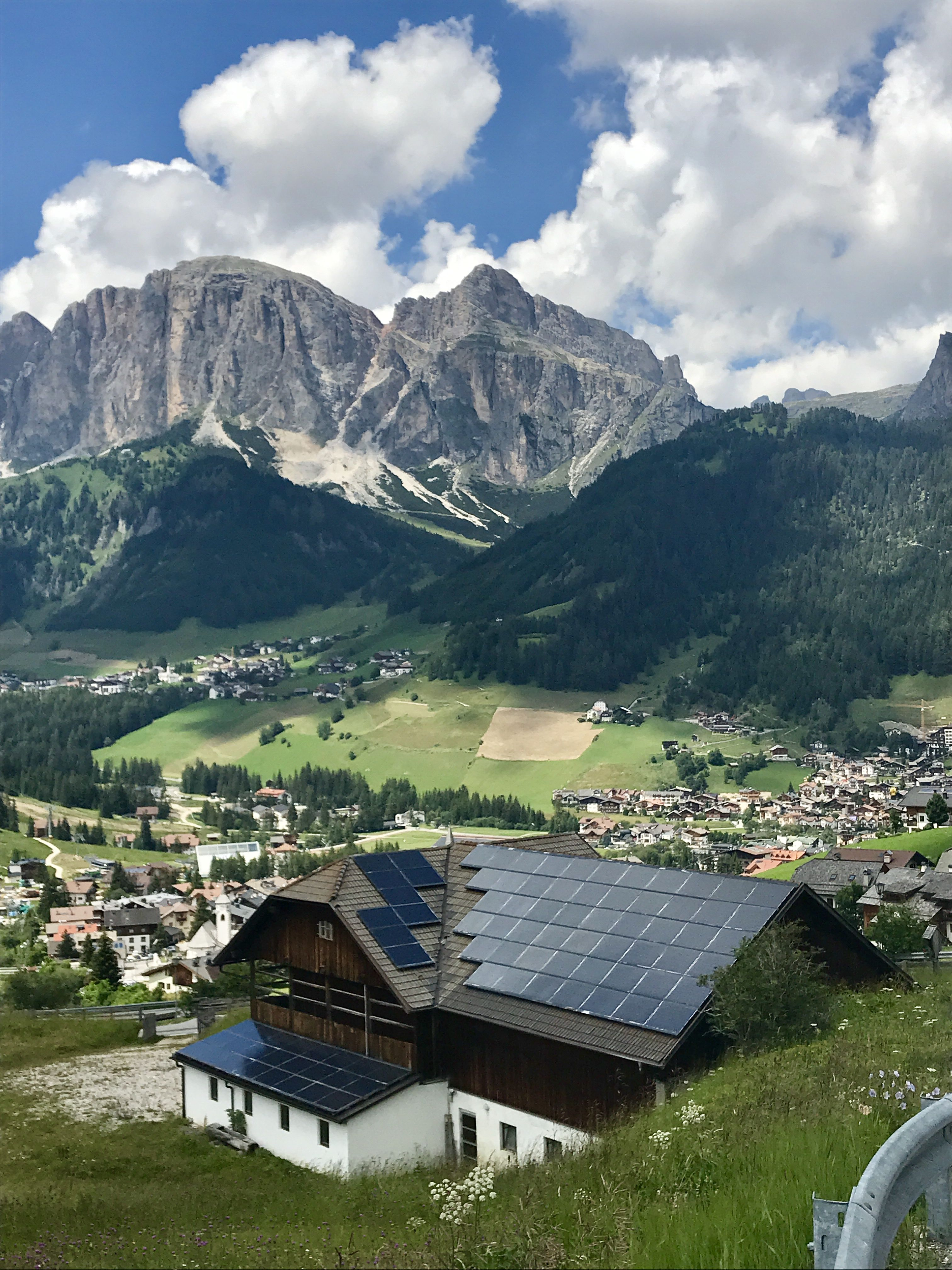 Rooftop solar in the Dolomite mountains