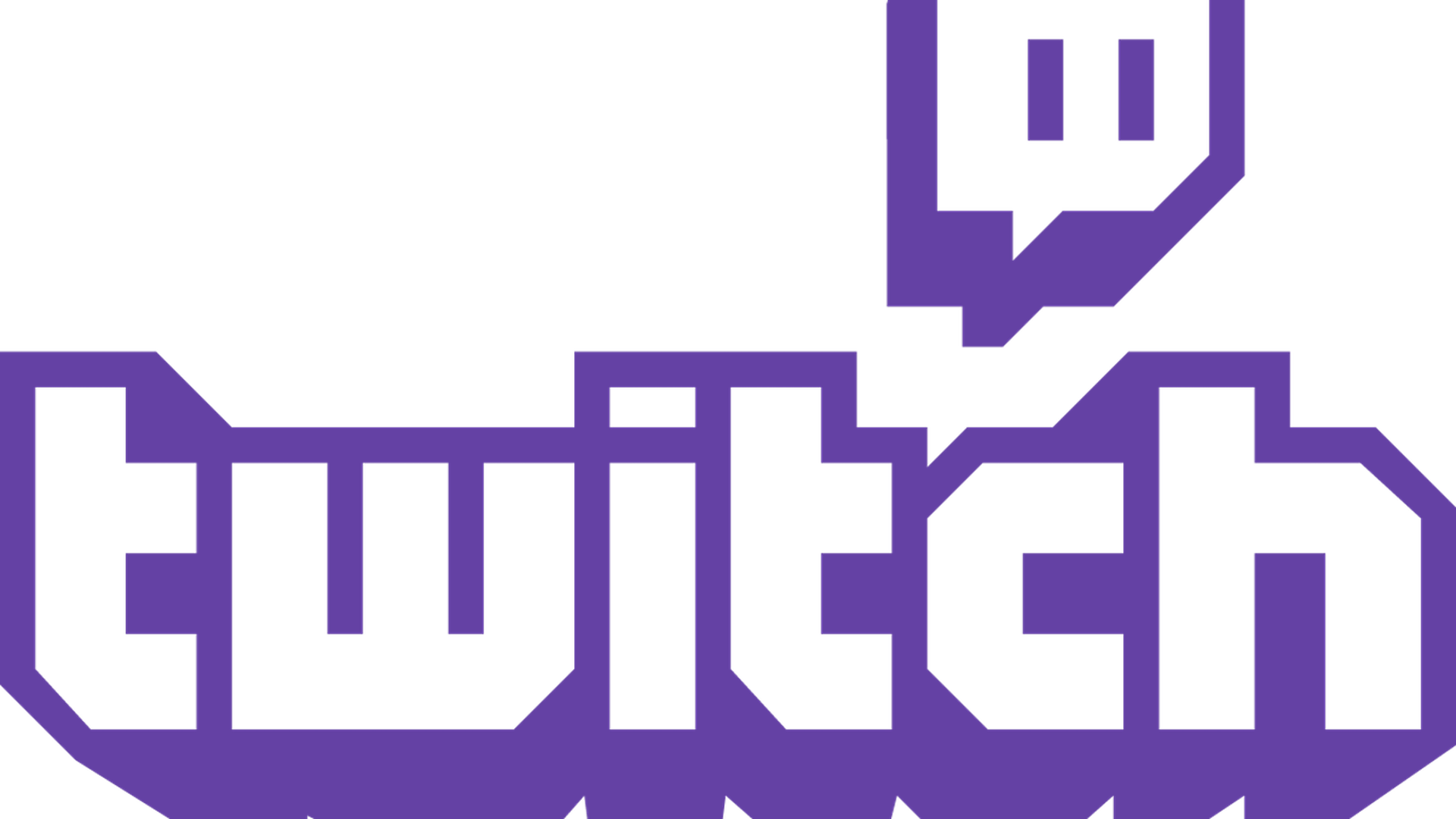 The logo for Twitch, the Amazon-owned video service widely used for streaming video games