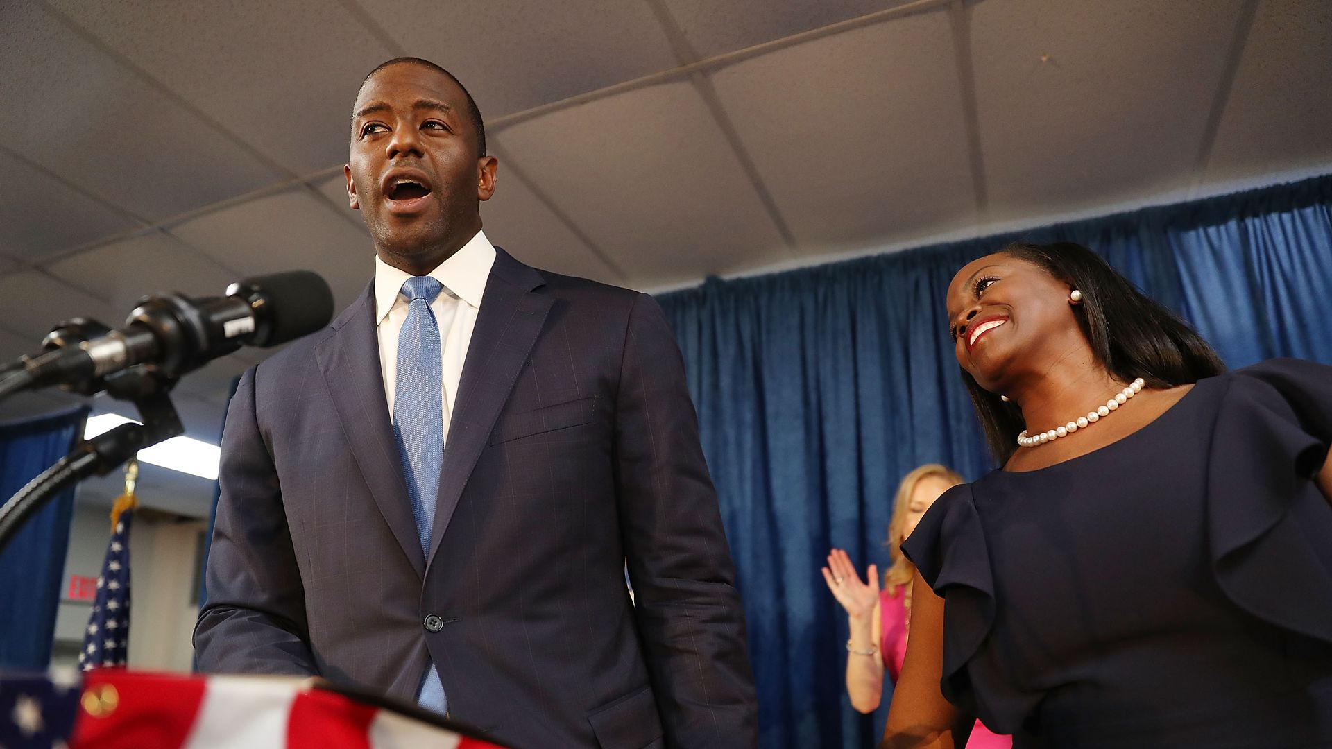 Andrew Gillum giving a speech