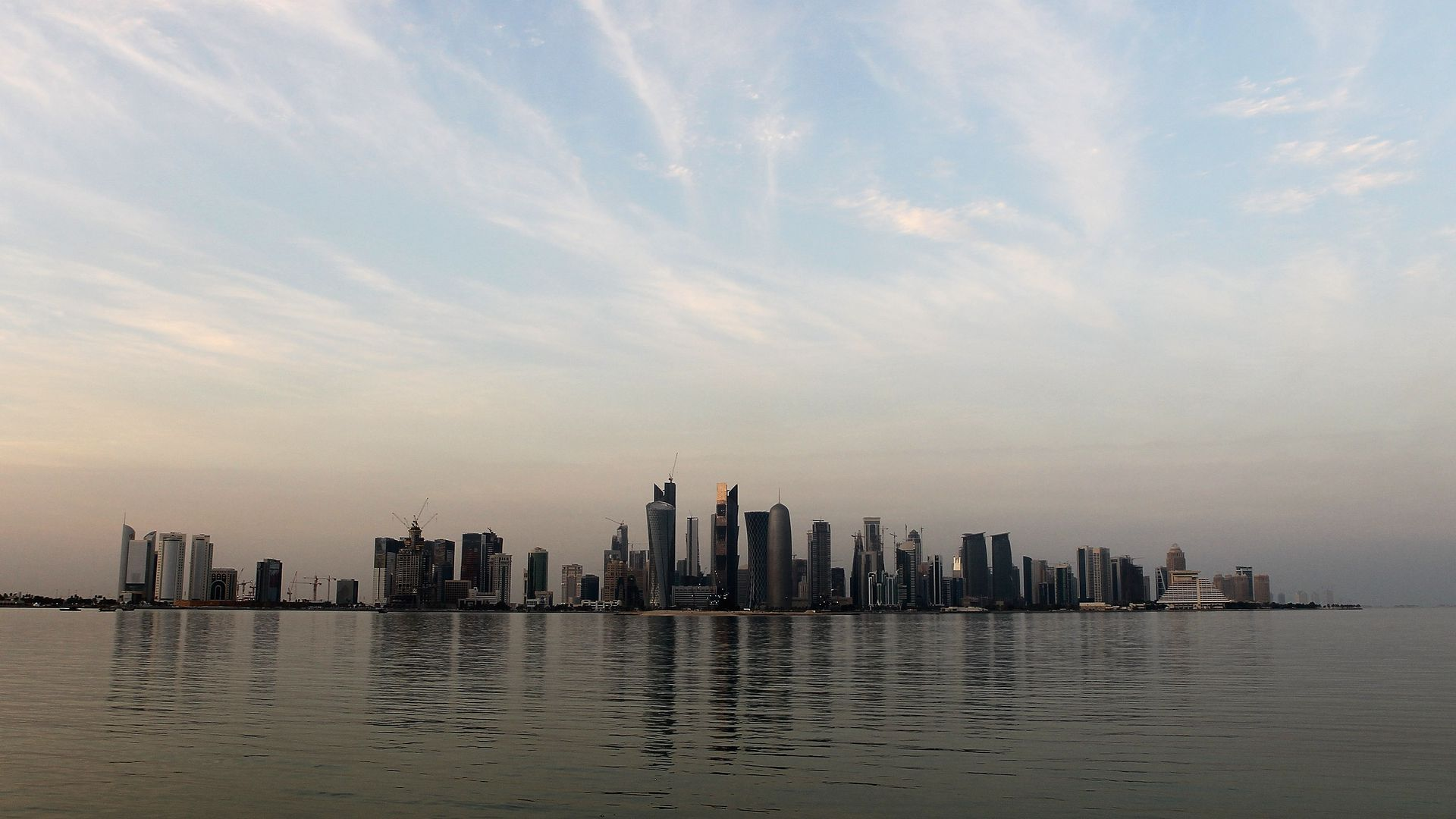 View of the skyline of the West Bay area in Doha is taken on January 4, 2011 in Doha, Qatar.