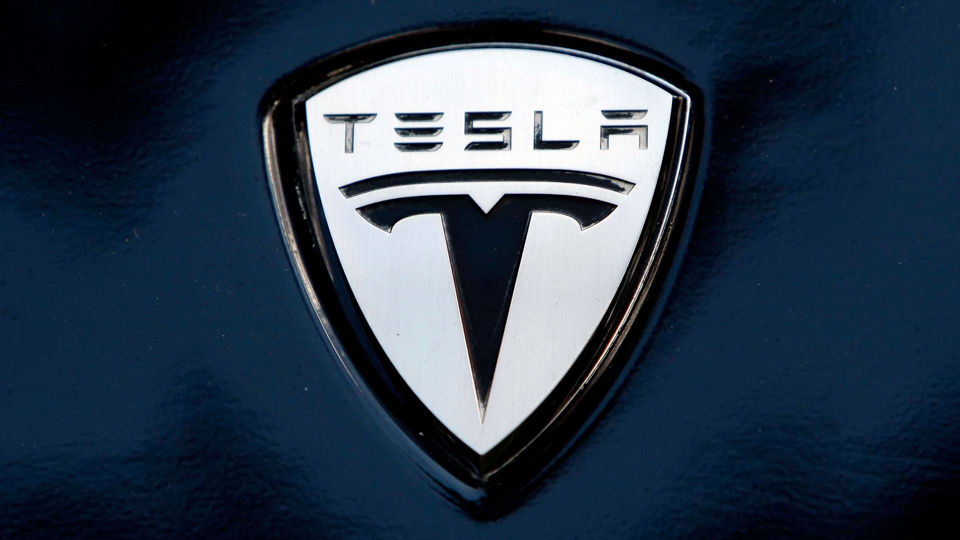 Photo of Tesla's electric car logo