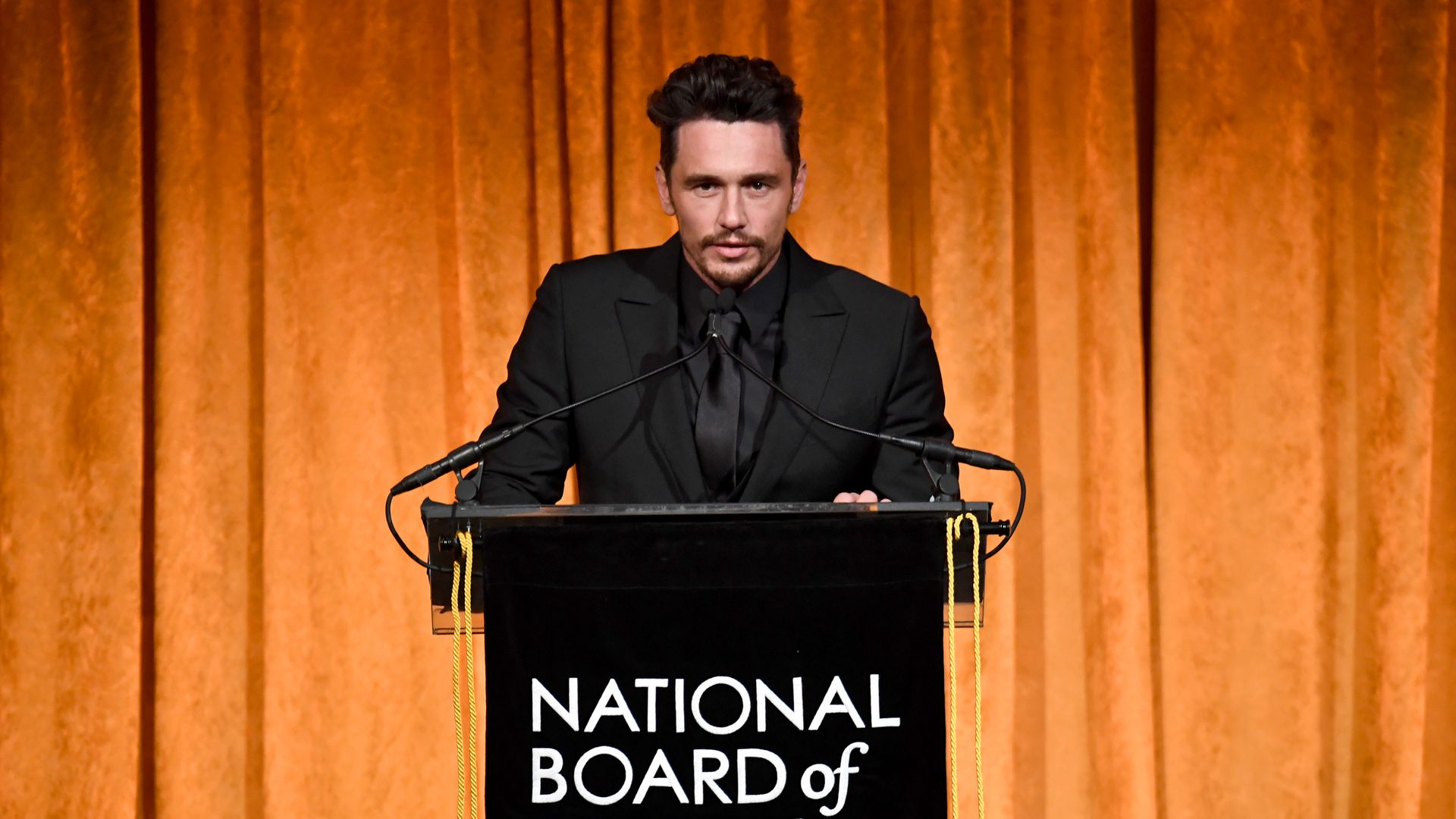 James Franco giving a speech
