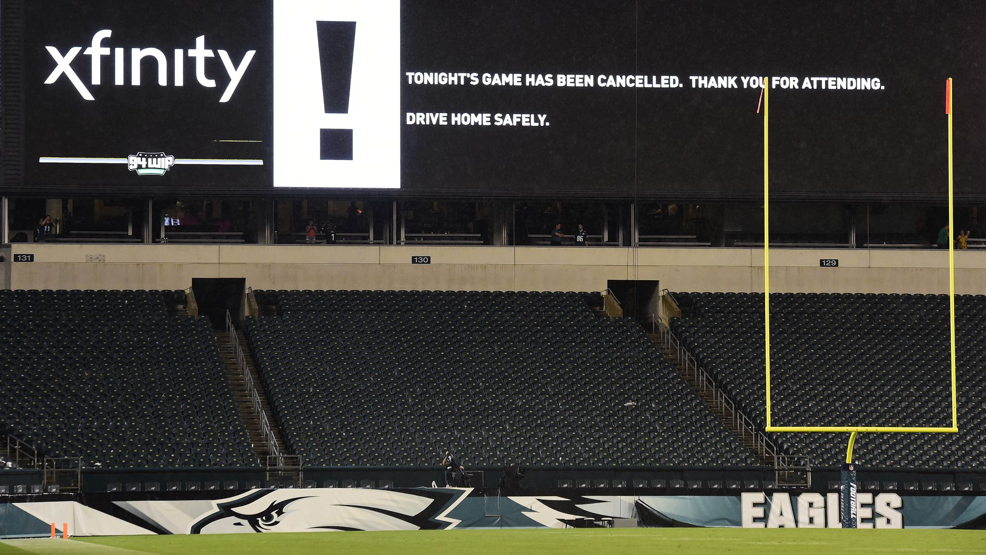 Eagles game canceled