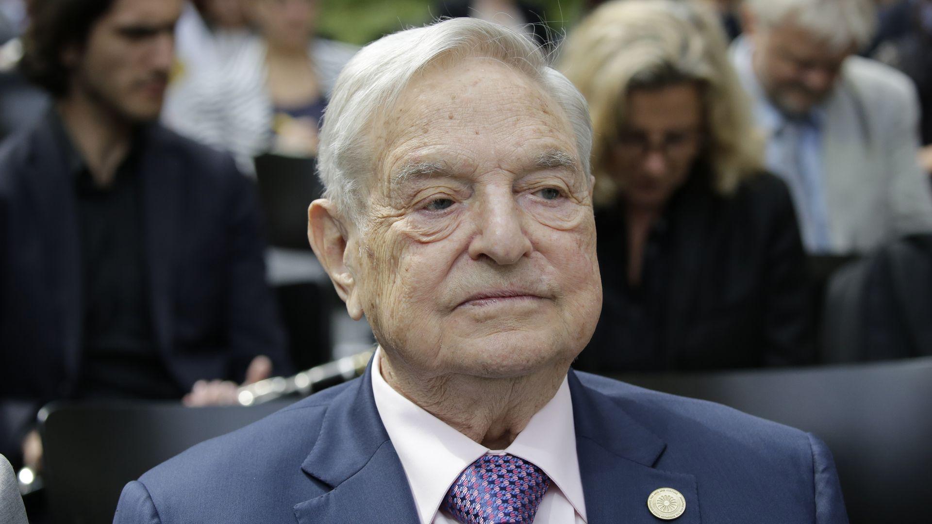 A headshot of George Soros.
