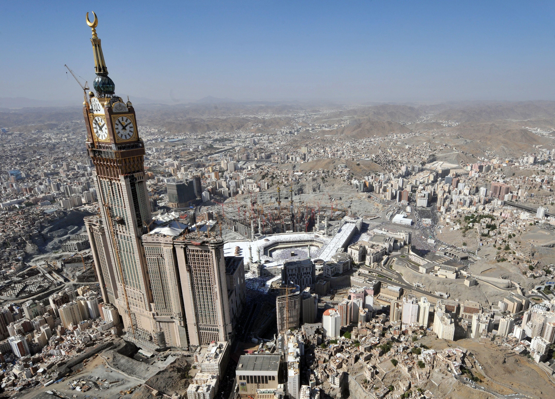 The Abraj Al-Bait Tower in Mecca