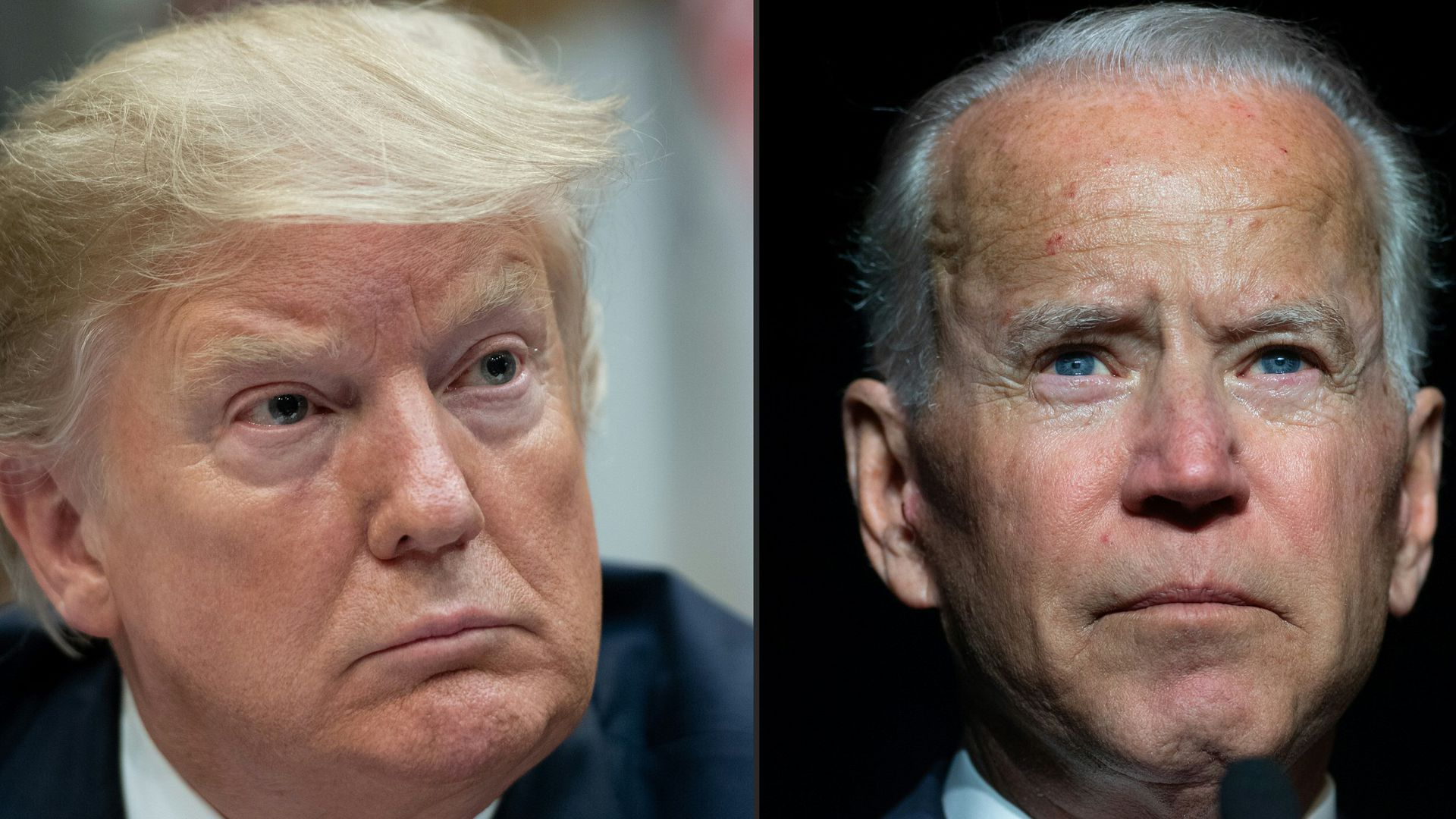A comination photo of President Trump and former Vice President Joe Biden.