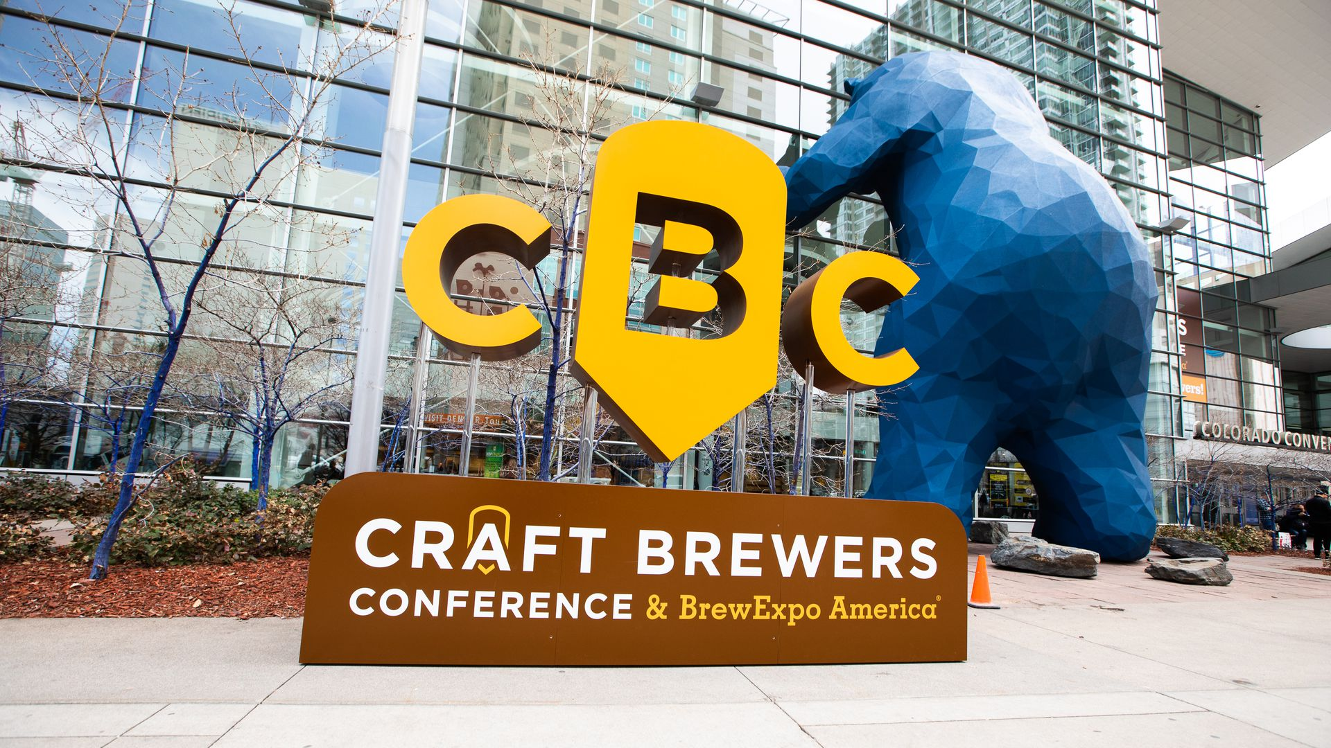A sign for the Craft Brewers Conference outside the Colorado Convention Center in Denver. Photo courtesy of the Brewers Association