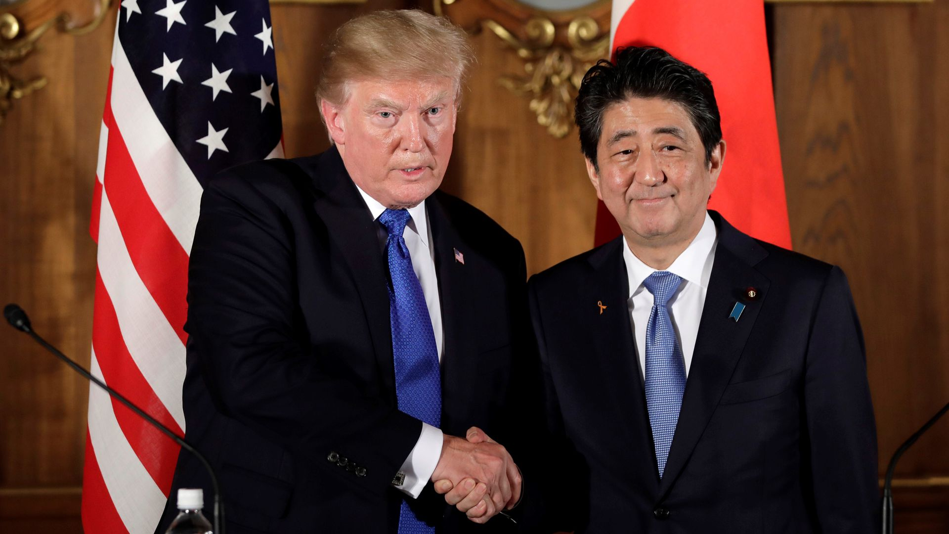 President Trump and Japanese Prime Minister Abe.