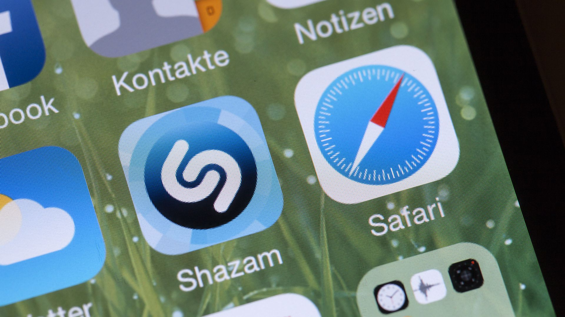 Shazam app on a German iPhone