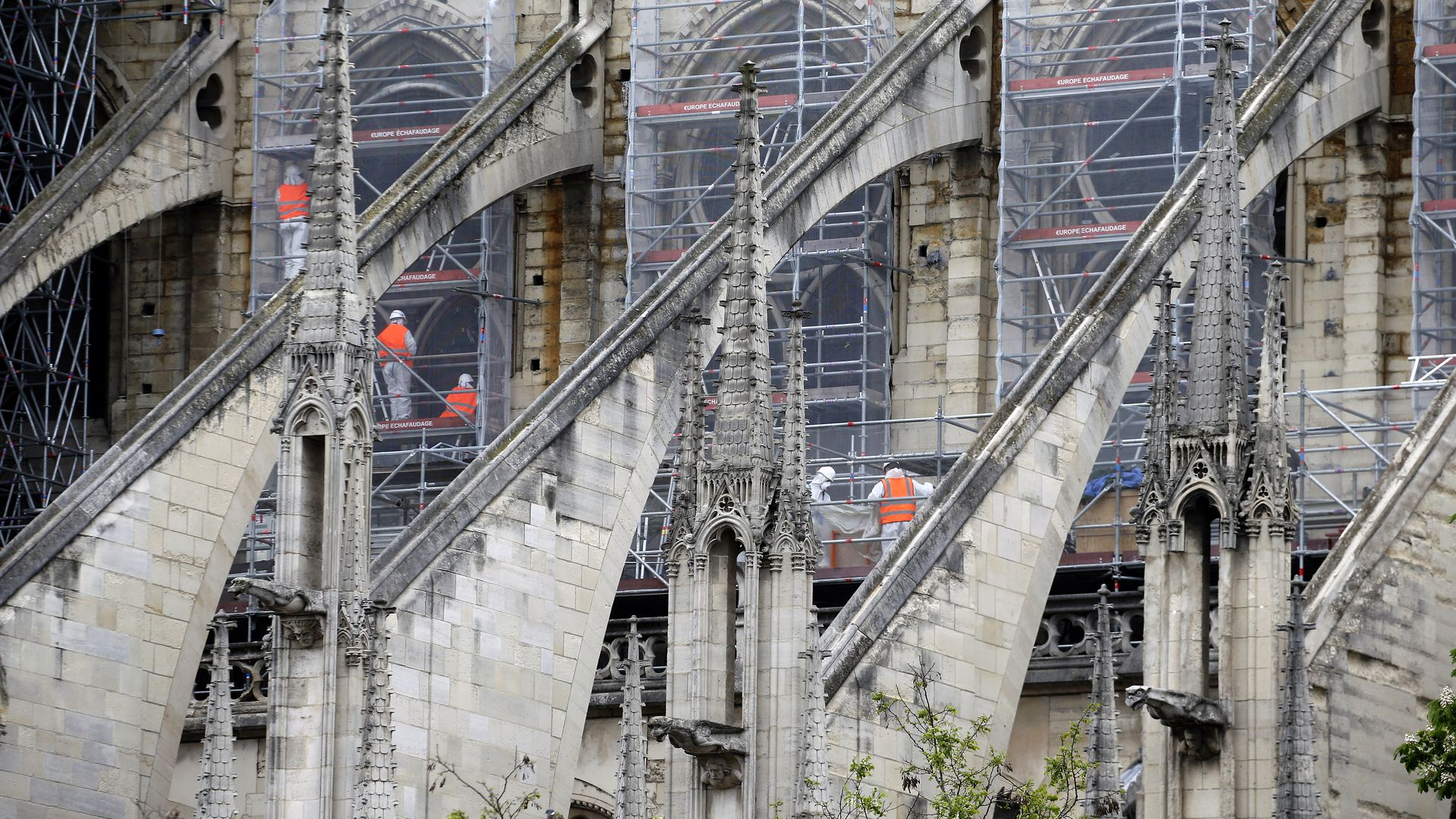WOrkers at Notre Dame
