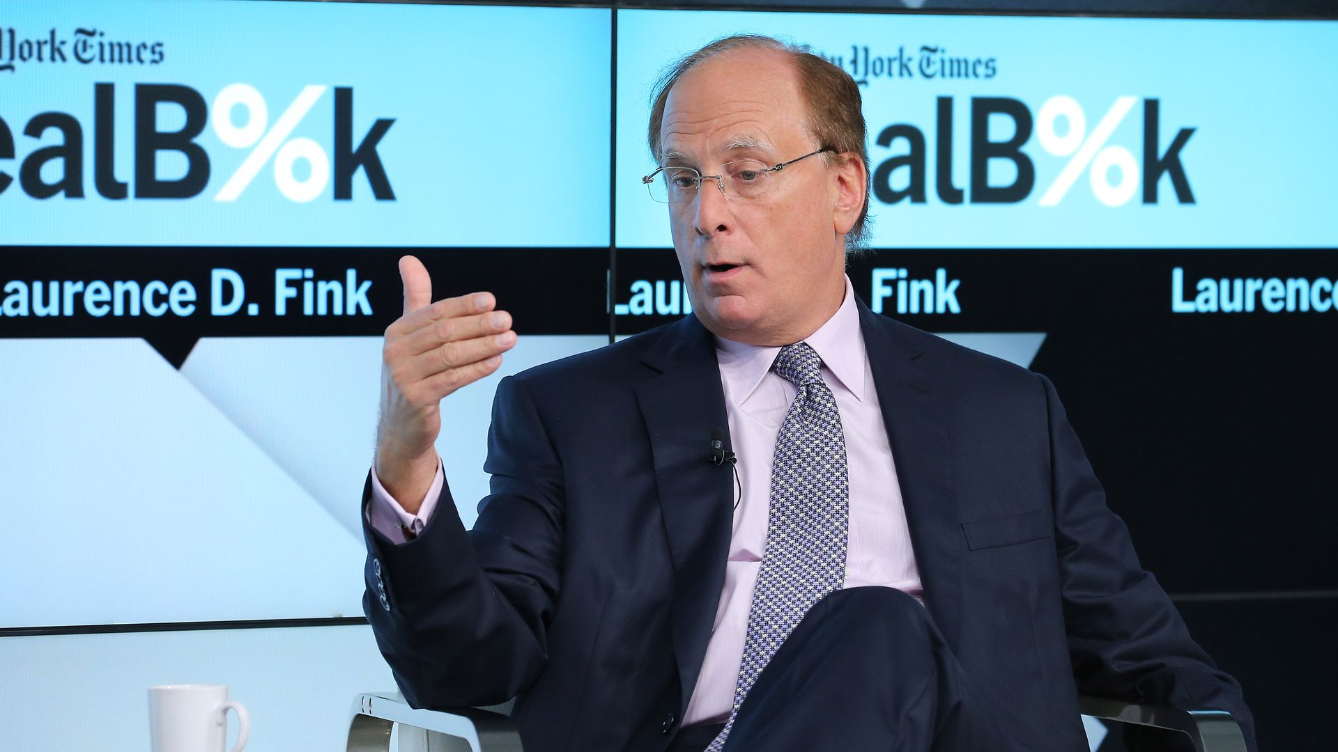Larry Fink at New York Times Dealbook Conference