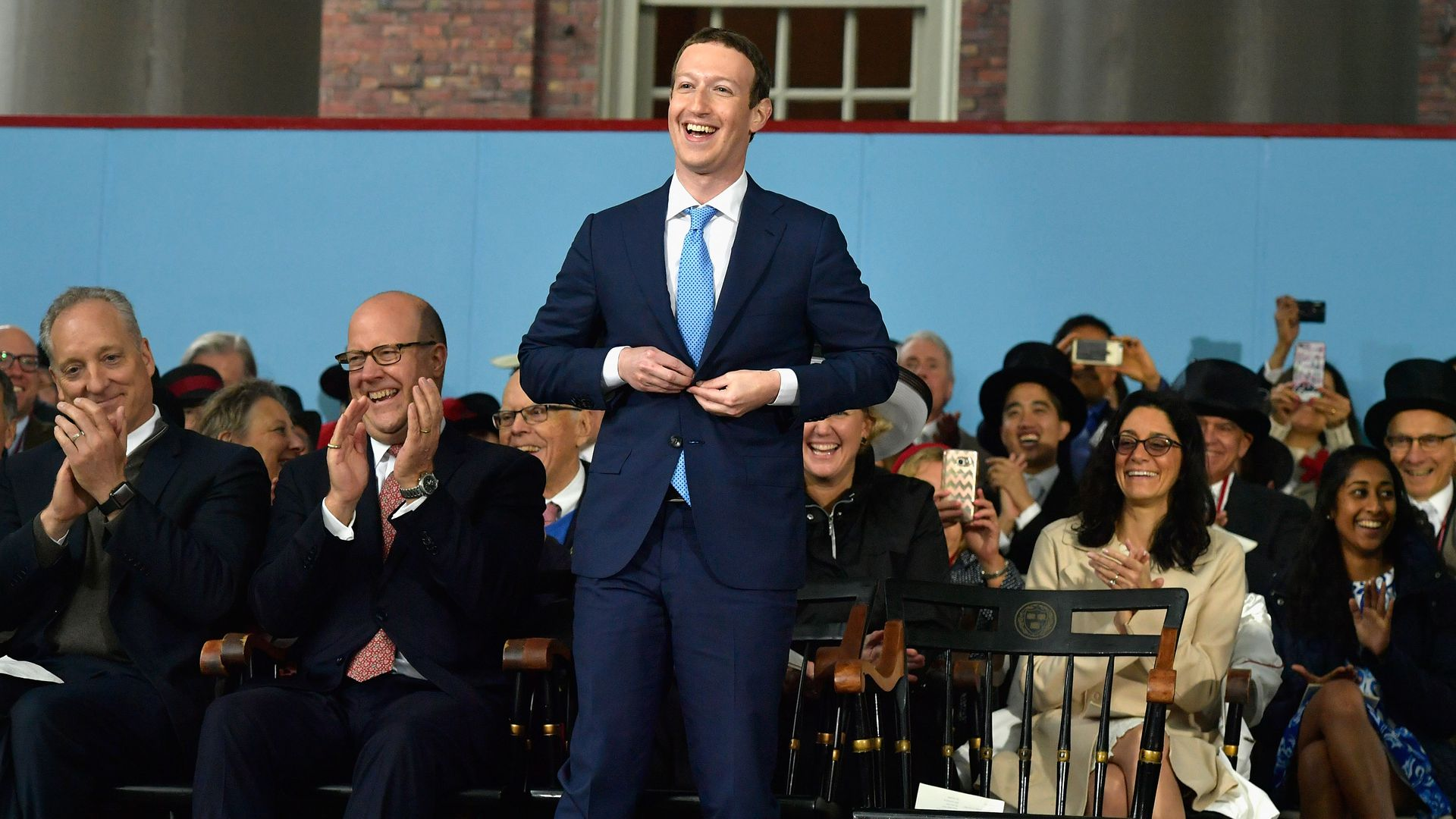 Mark Zuckerberg wearing a suit