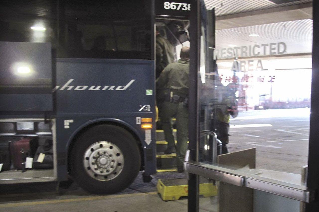 Greyhound bars immigration sweeps - Axios