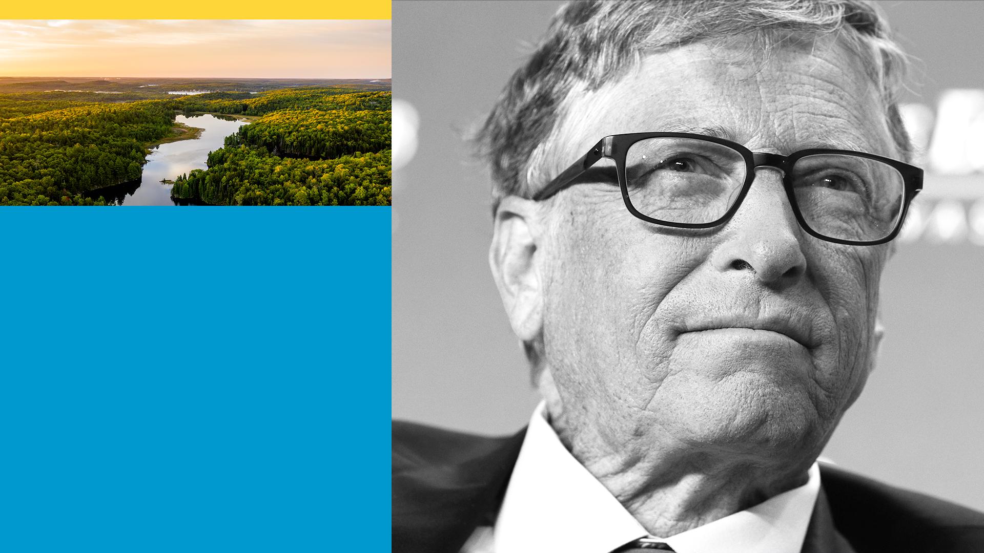 Illustration of Bill Gates.