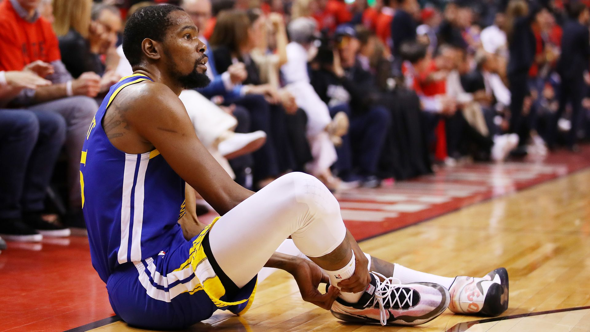 Kevin Durant on the floor