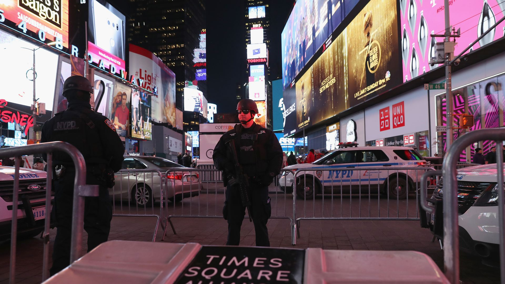 Policeman in Times Square