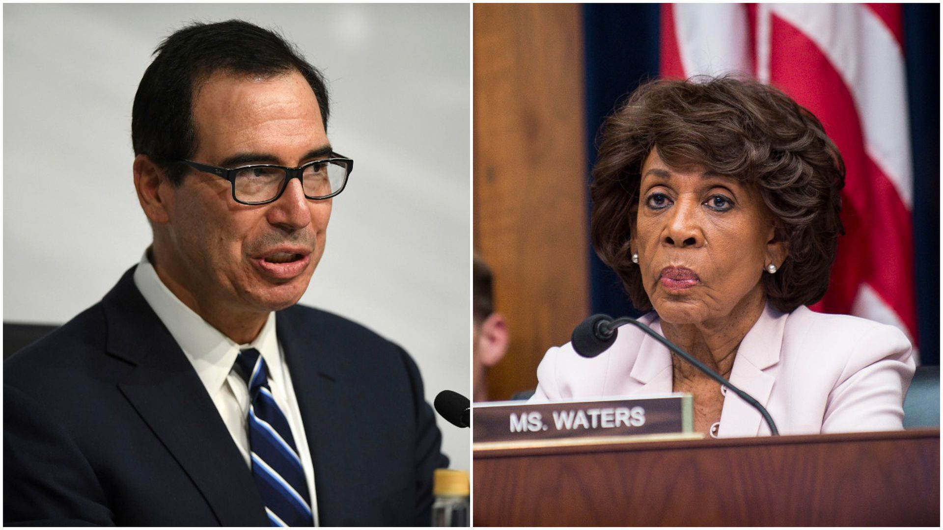 Mnuchin and Maxine Waters