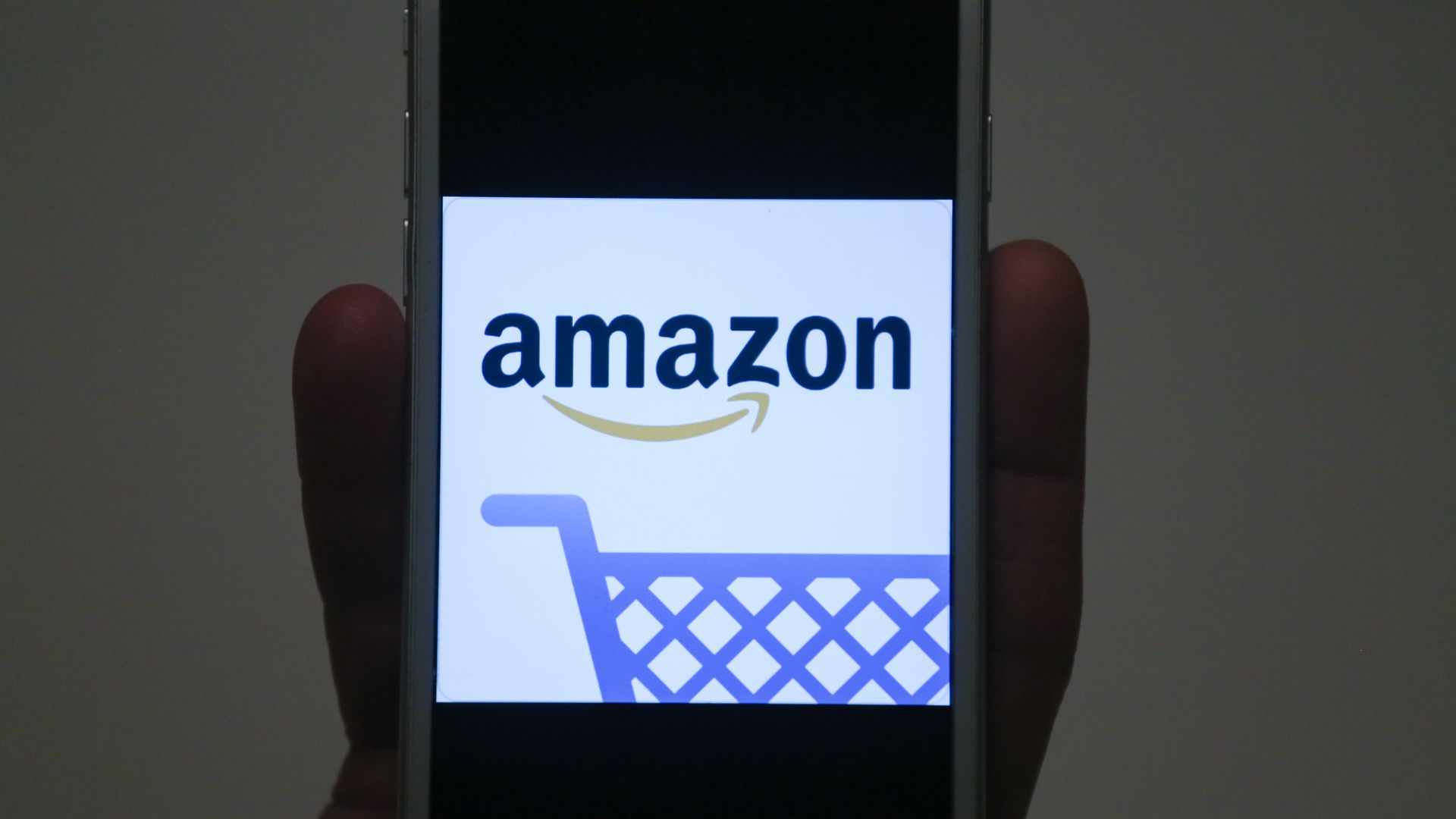Amazon logo on a phone