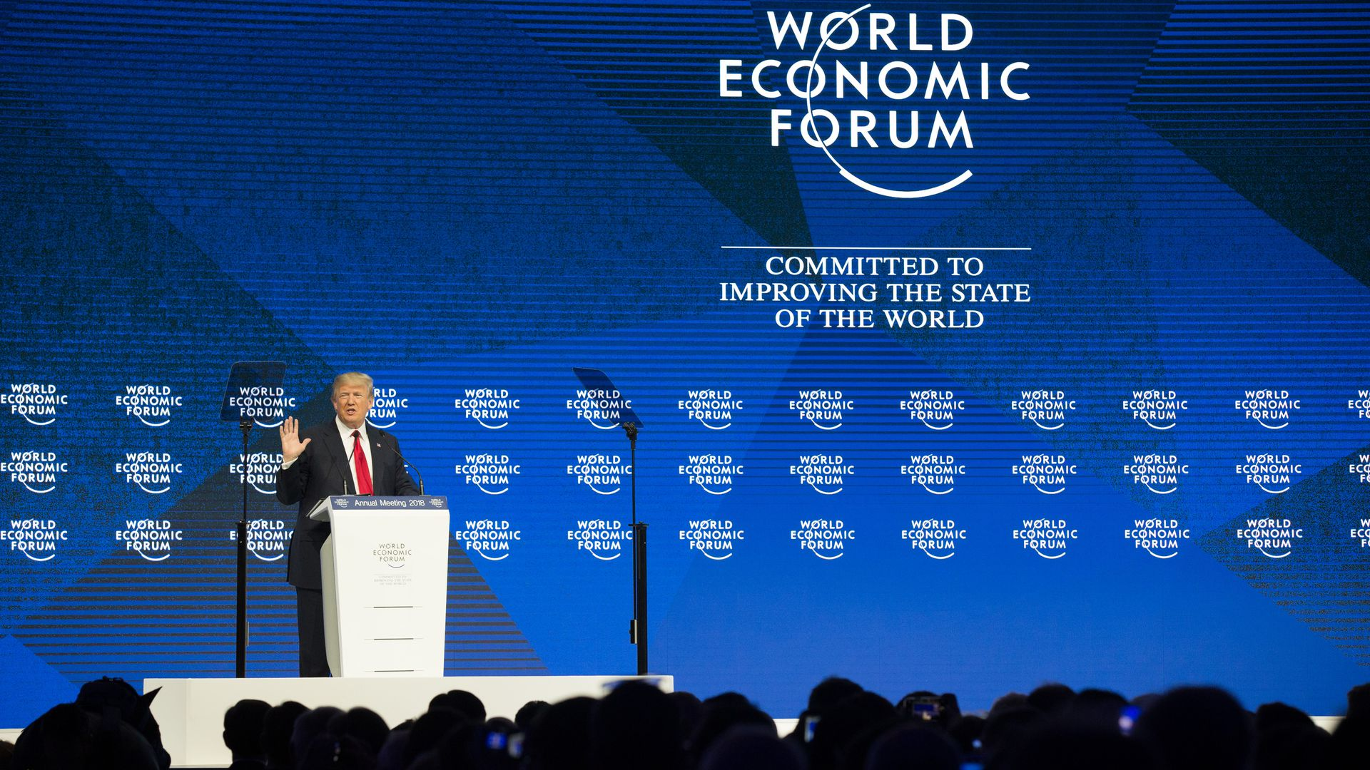 Trump speaking at World Economic Forum