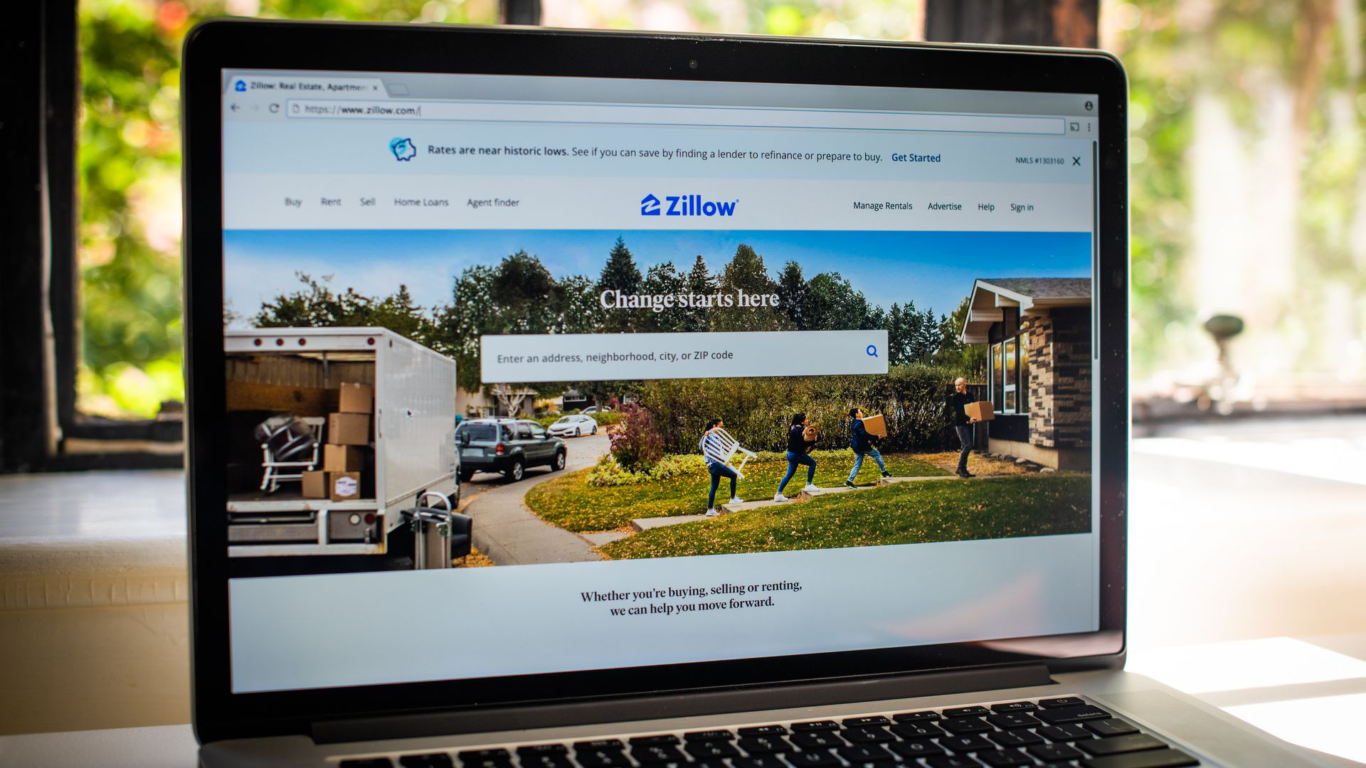 The Zillow website is a common way for people to find real estate for sale.