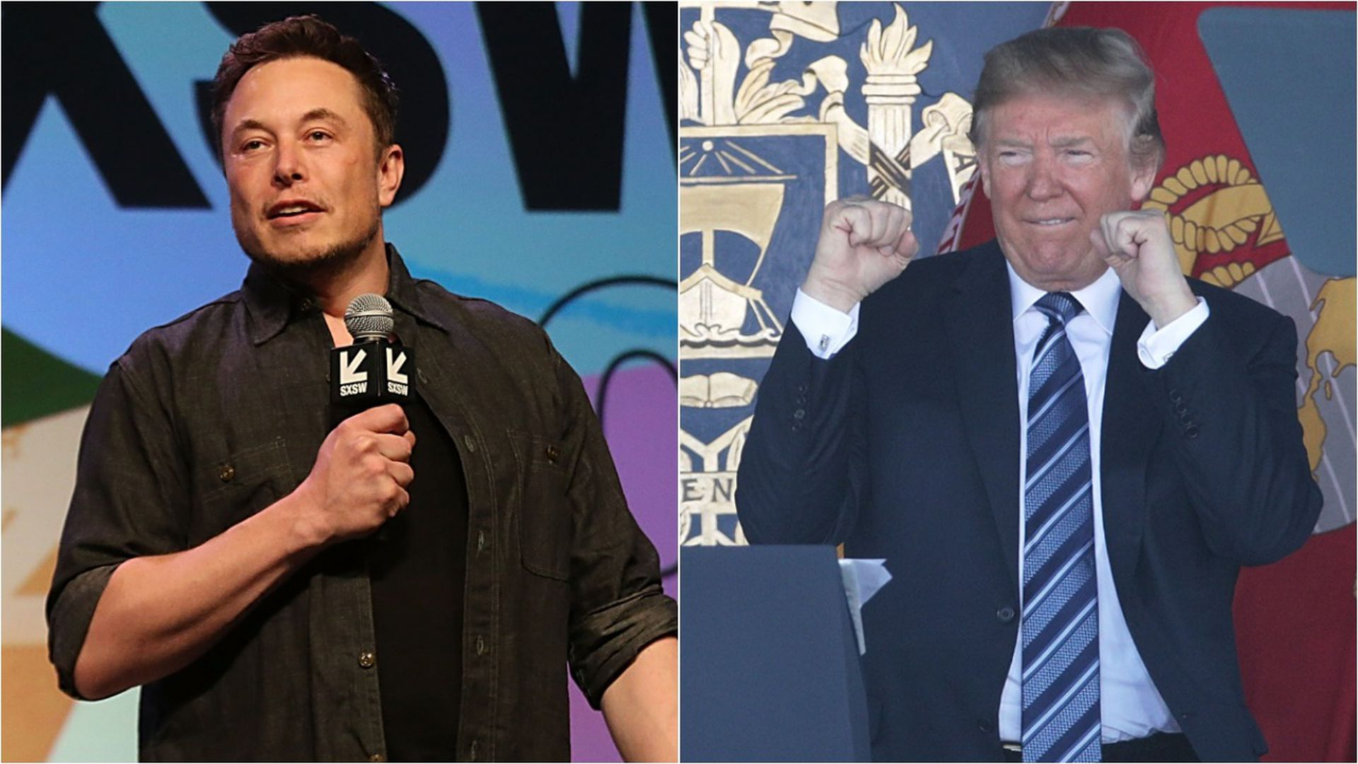 Donald Trump and Elon Musk.