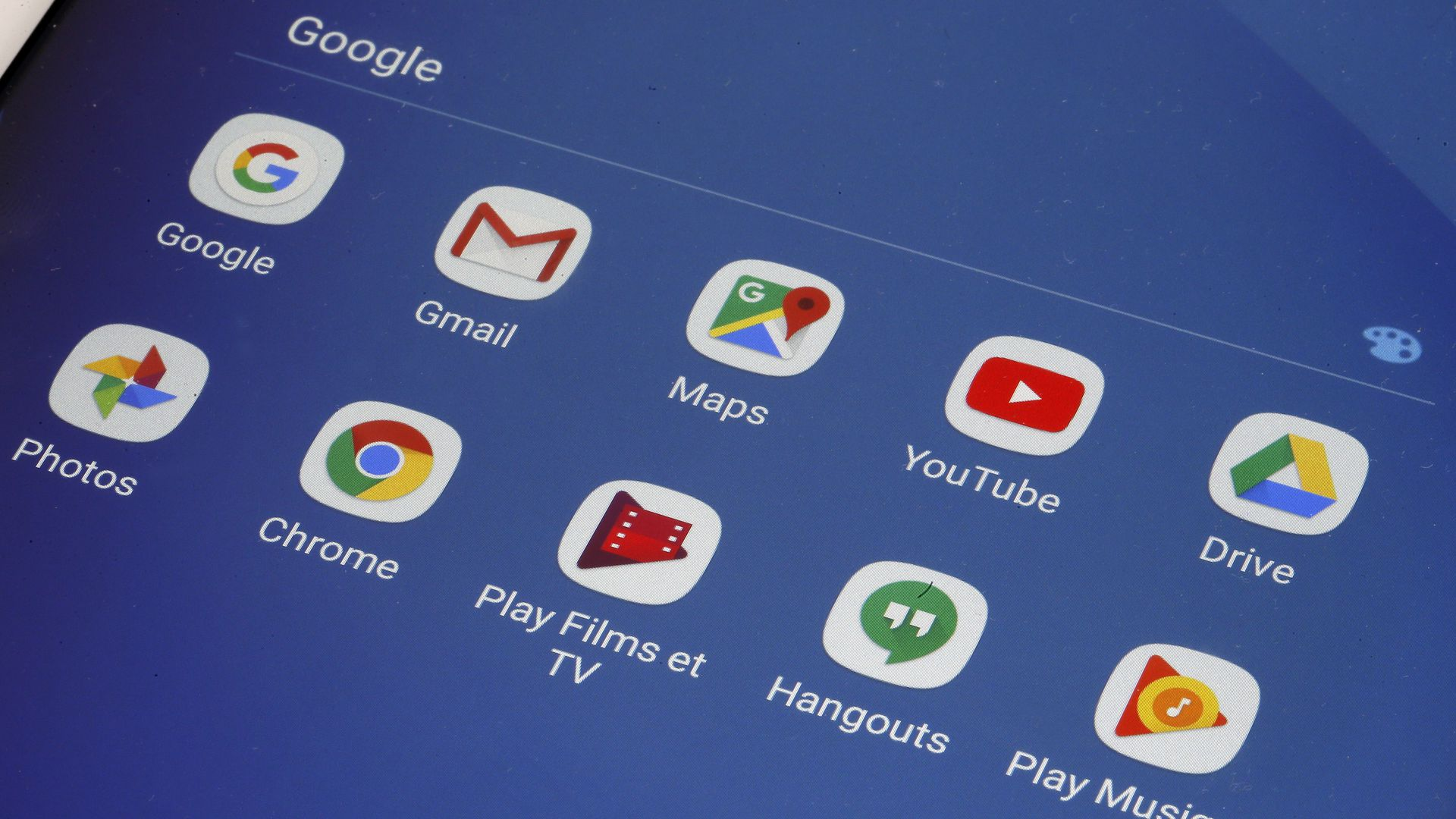 Google suite apps including youtube, chrome, hangouts, gmail etc.