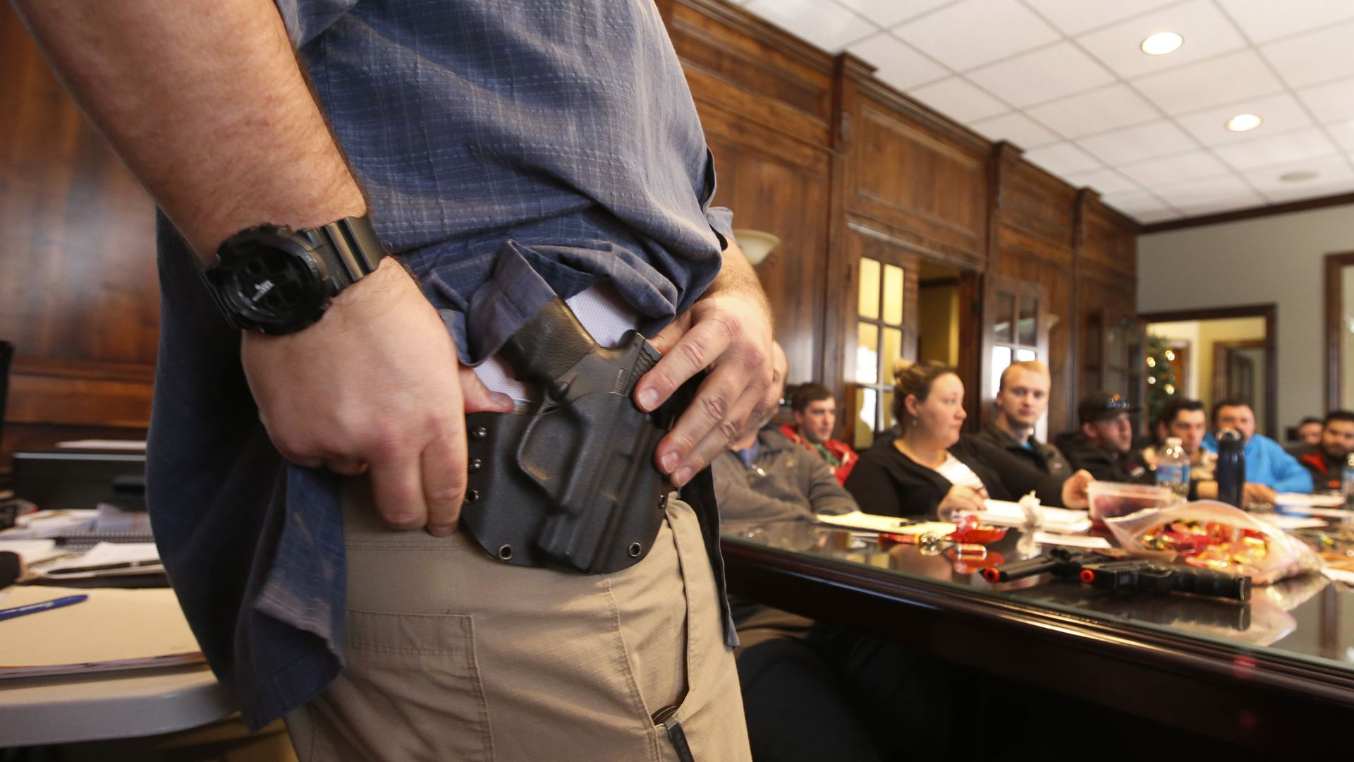 A concealed carry permit class