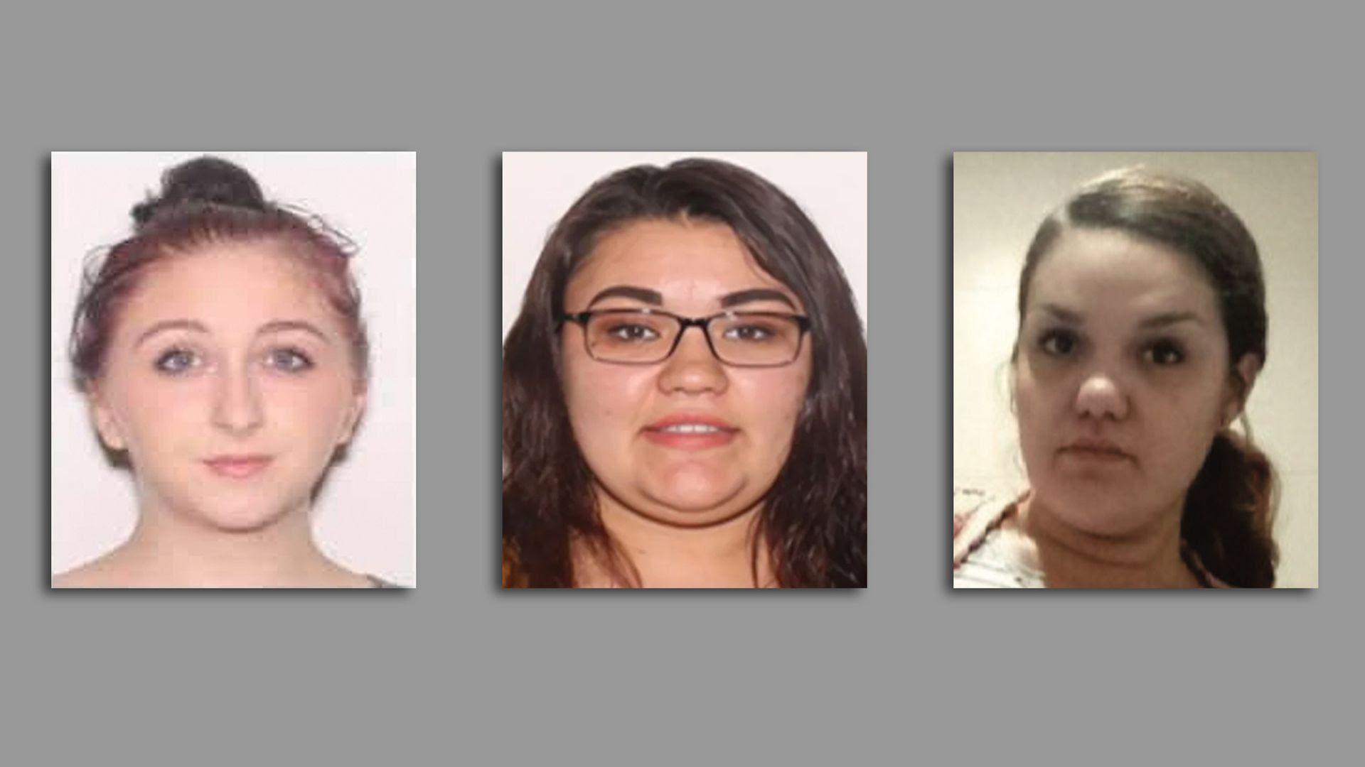 Portraits of Kelly Vazquez, Veronica Reyes-Diaz and Cieha Taylor.