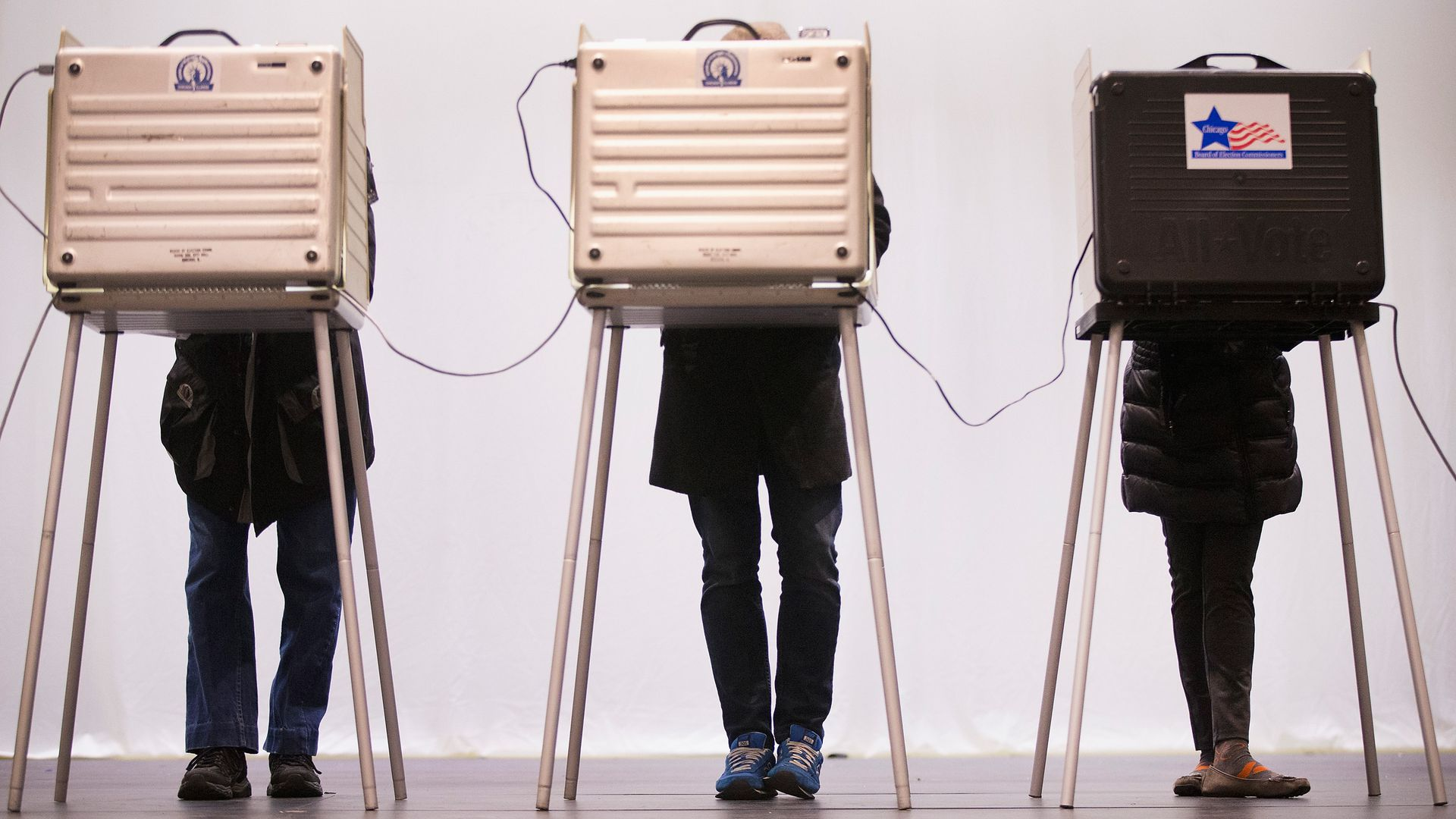 Voters casts their ballots