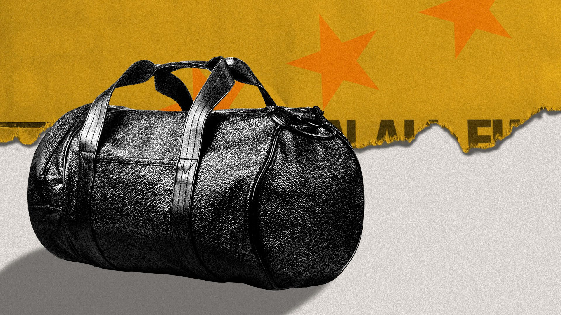 Illustration of a duffel bag