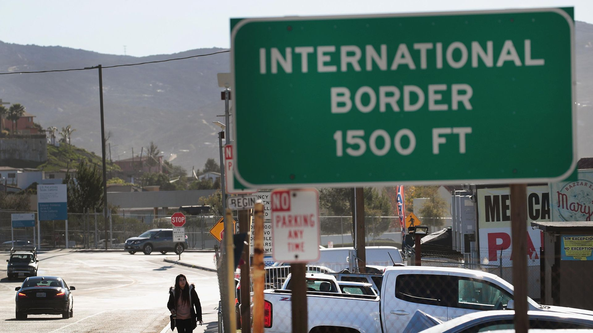 Sign for u.s.-mexico border