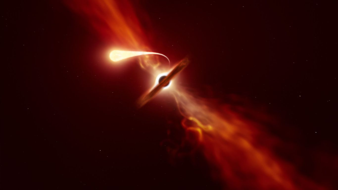 Scientists spot star destroyed by a black hole 215 million light-years away