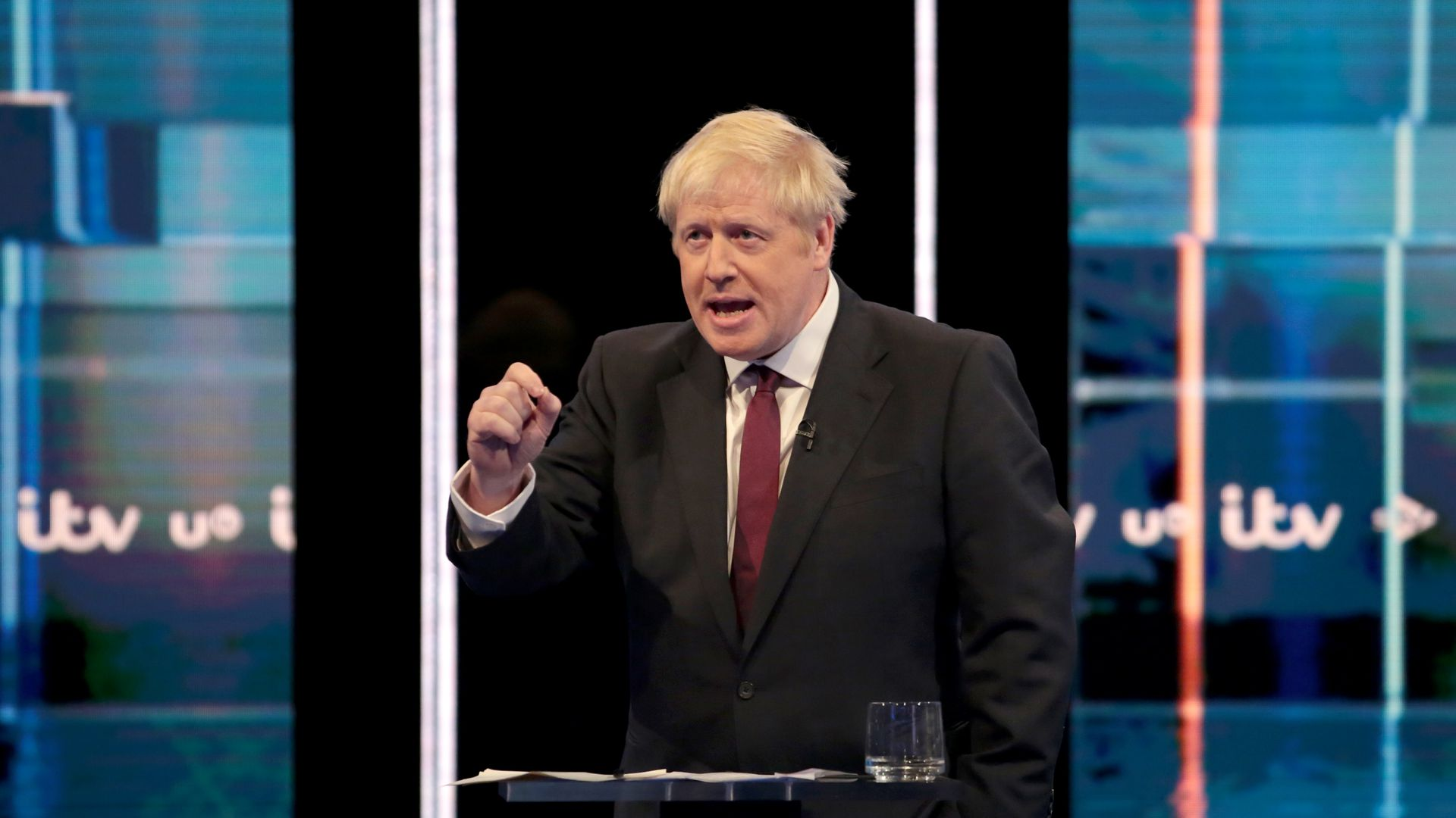 Boris Johnson takes part in the Jeremy Hunt and Boris Johnson debate Head To Head on ITV on July 9.