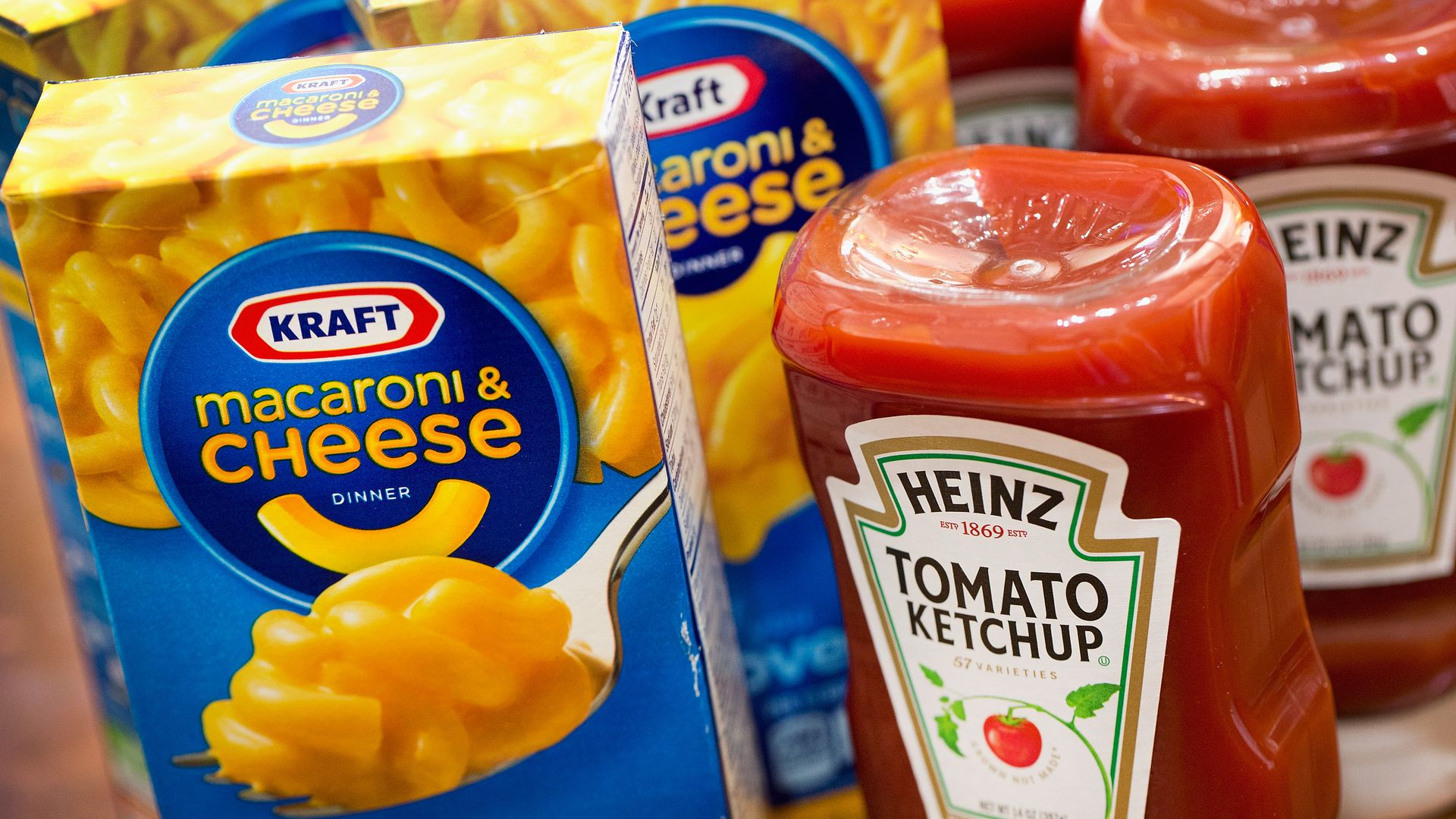 Kraft and Heinz products.