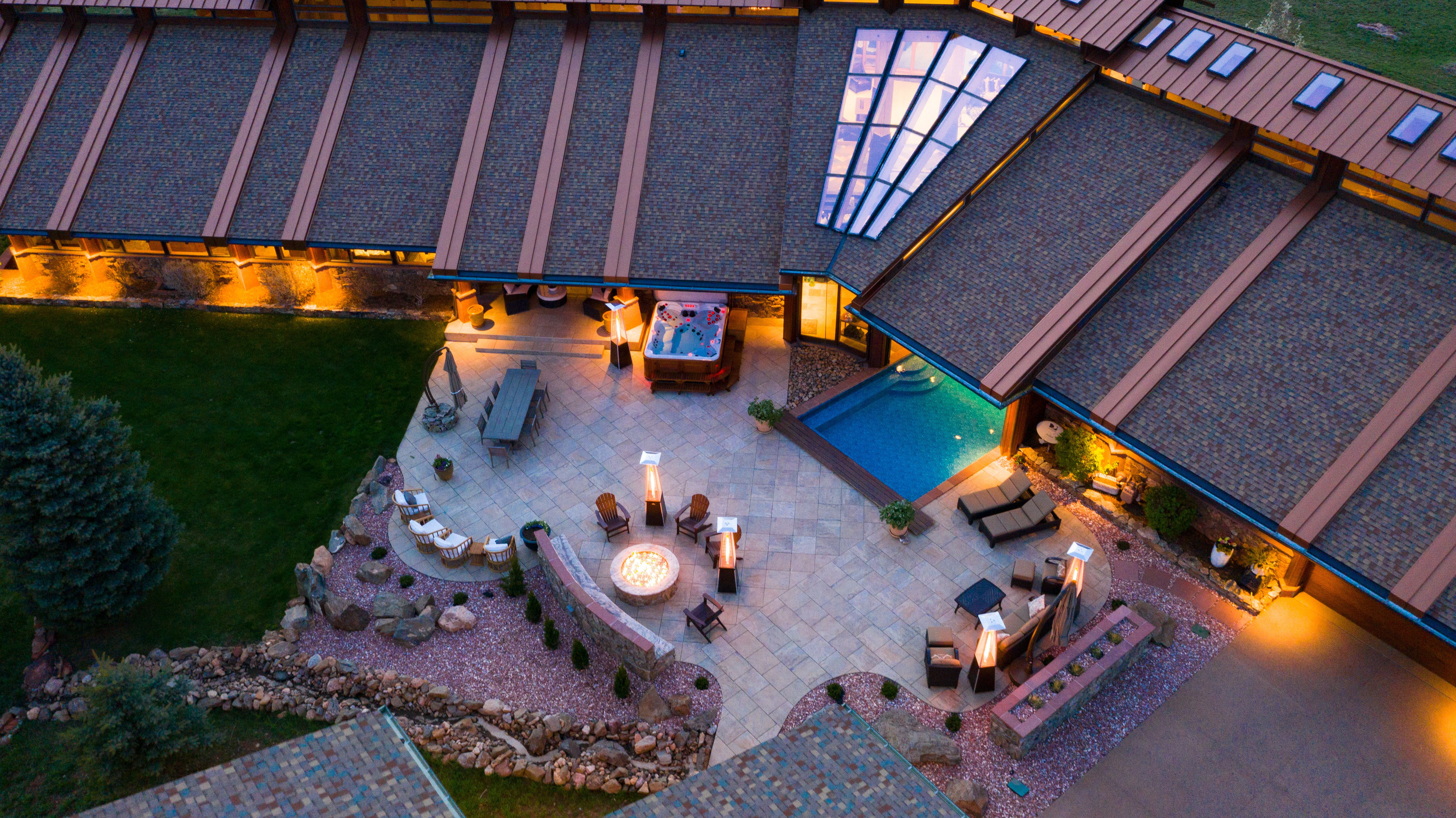 Colorado Mountain house on 35 acres asks $7M aerial view