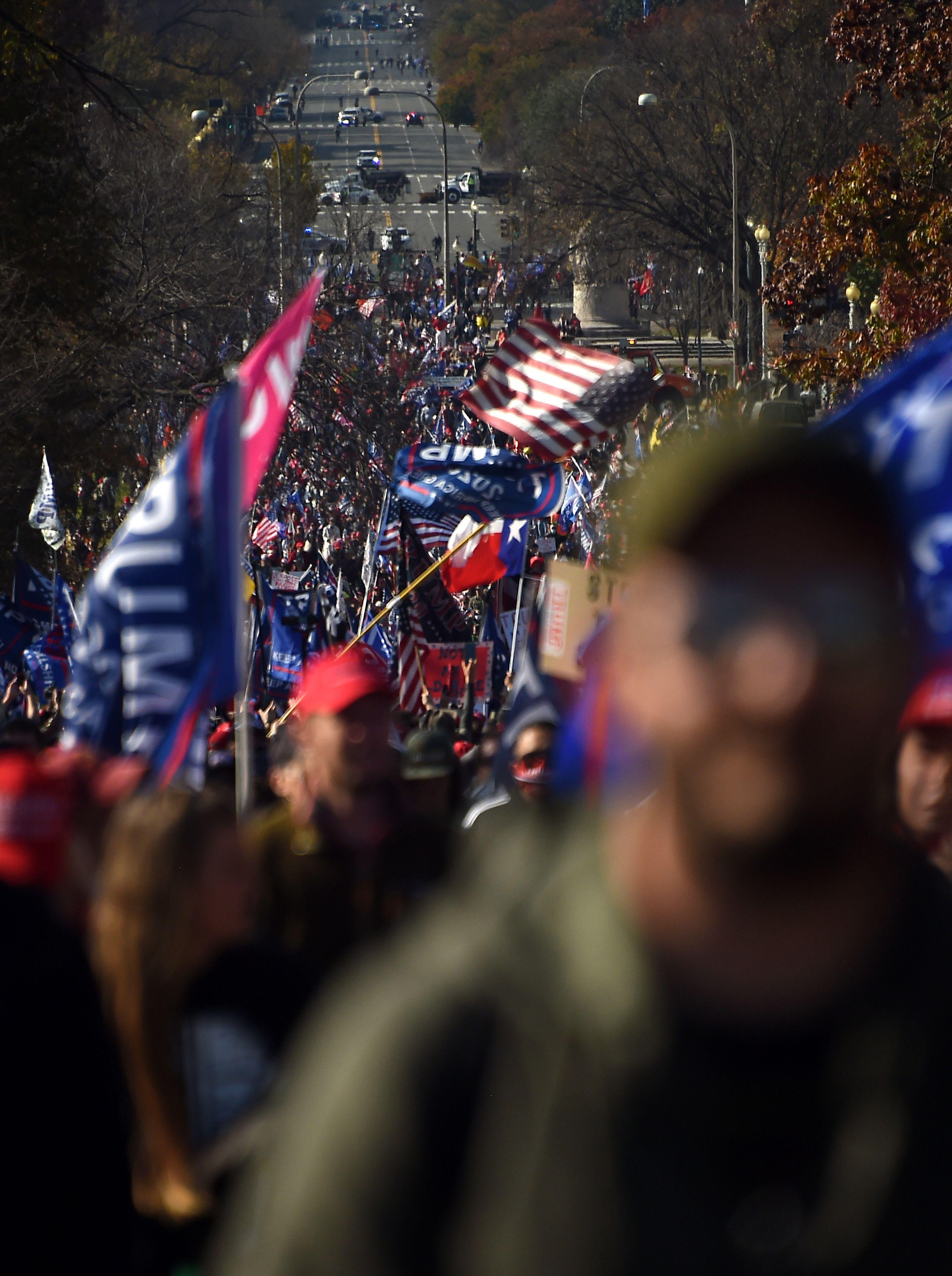 Les partisans de Trump à DC le 13 novembre.