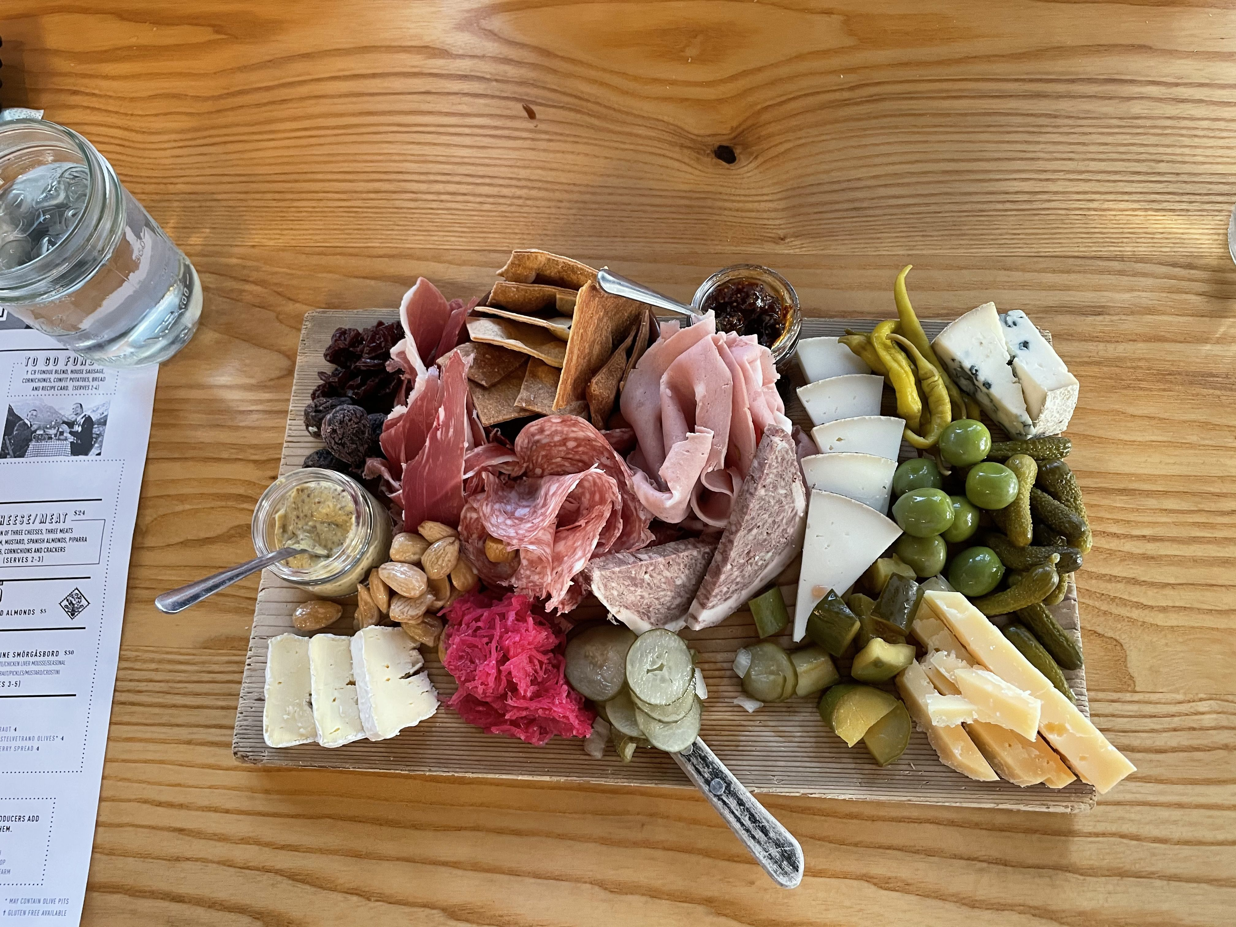 A Smorgasboard from Cheese Bar in Des Moines.