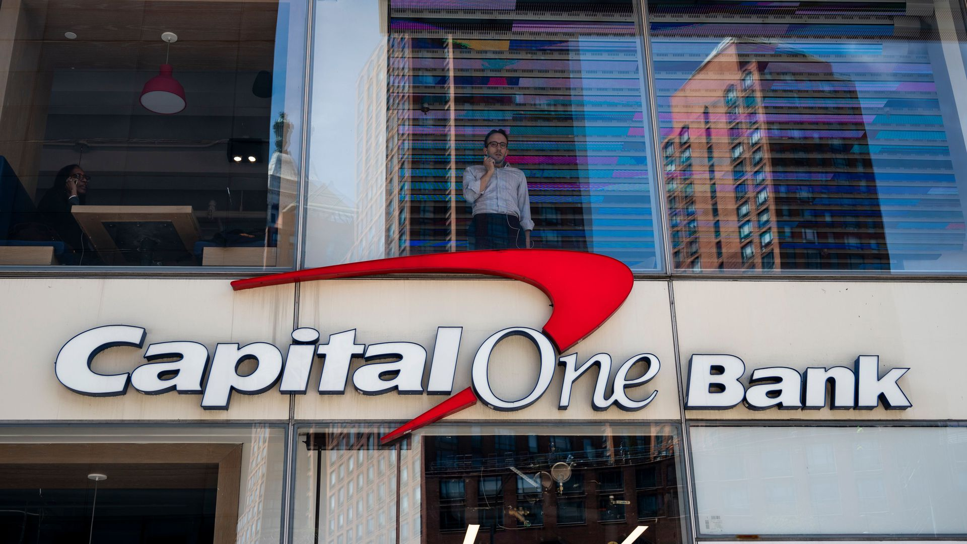 Photo of a Capital One Bank sign